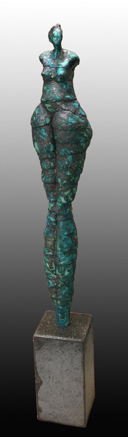 MEMORIES OF TURQUOISE  45″ x 7″ x 7″ / Ceramic