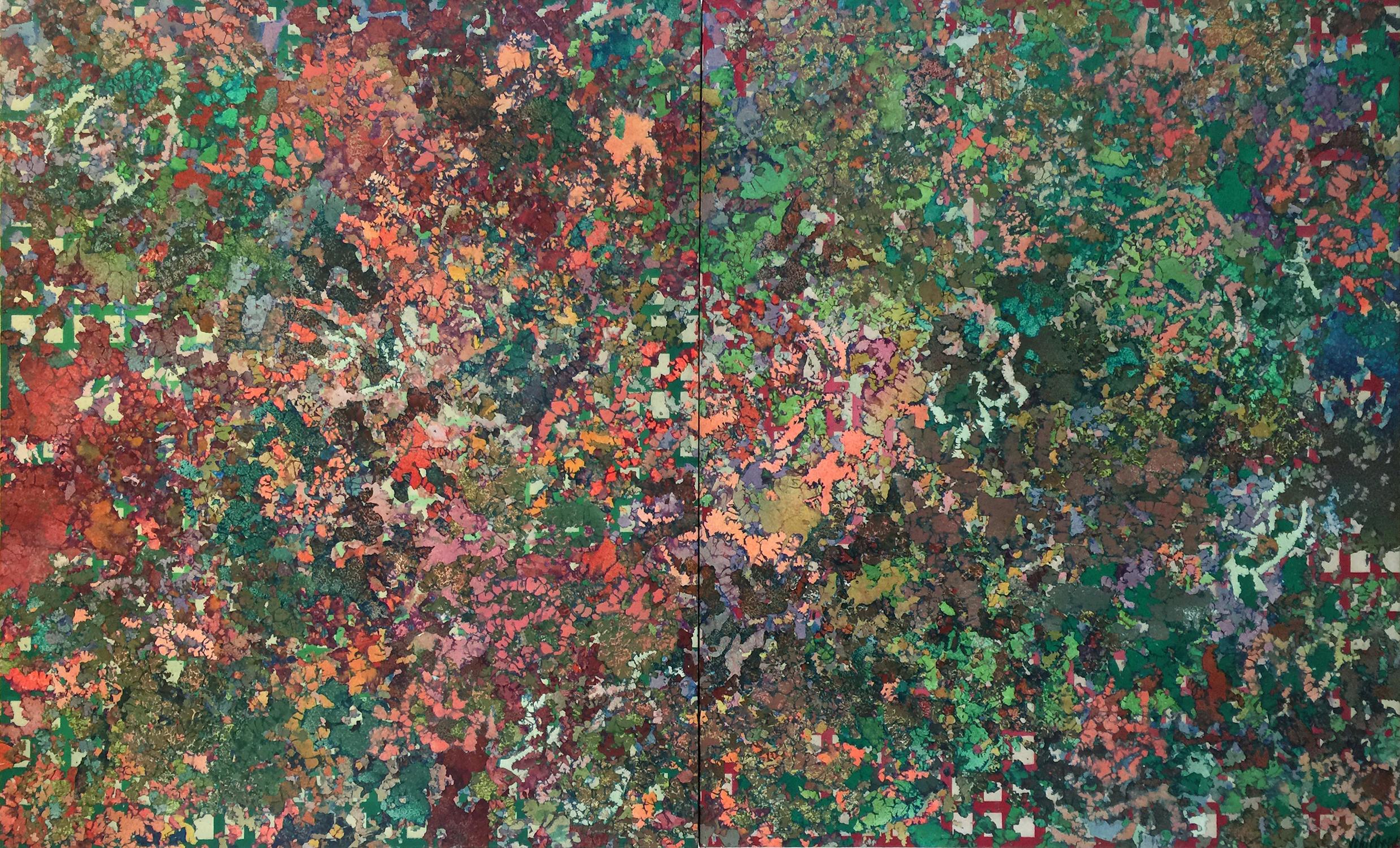 COMPLEMENTARIES  55.5″ X 92.5″ / Acrylic /Circa 1974