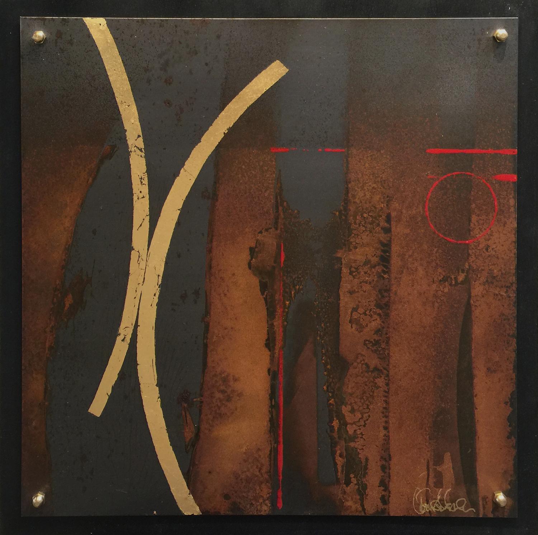 """Iron Age 9  20""""X20"""" / Mixed Media"""