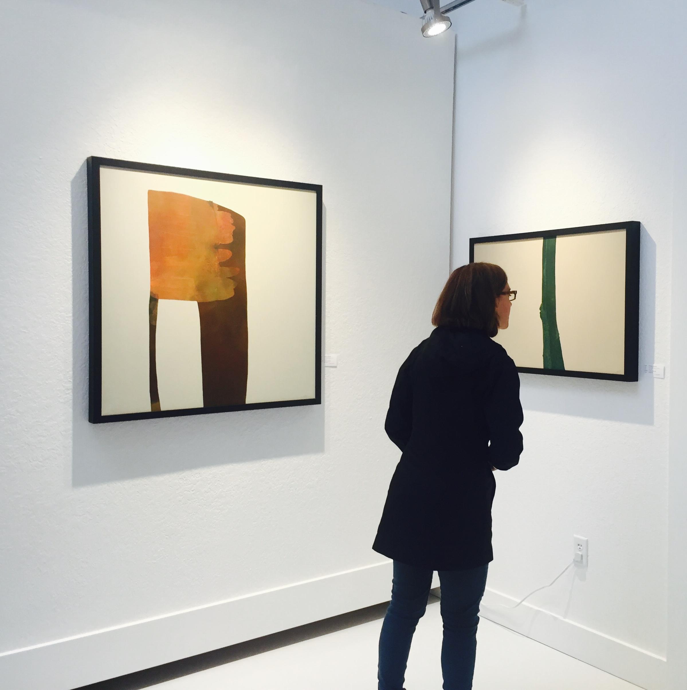 Admiring the work of artist  Gretchen Gammell