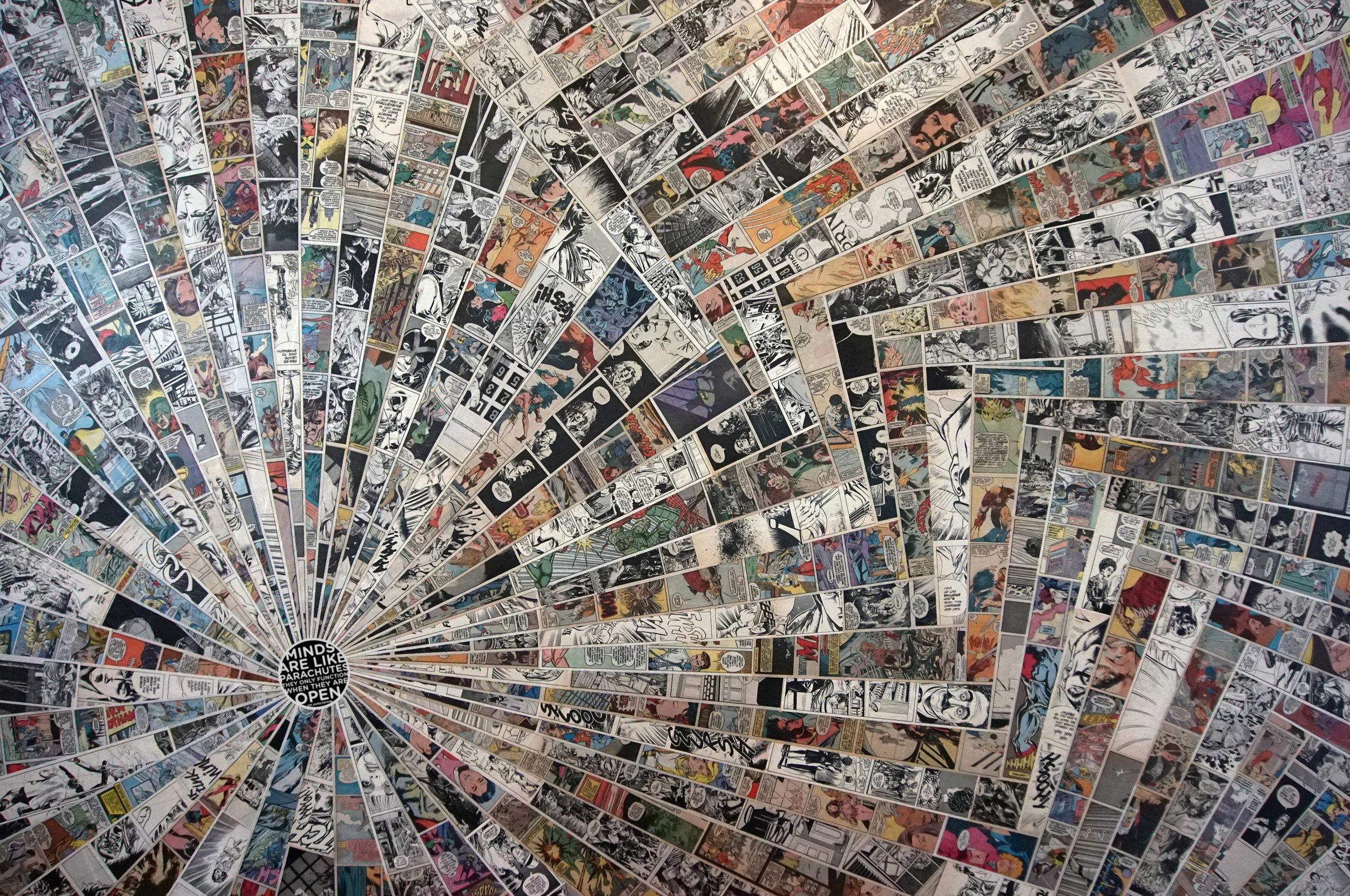 """PARACHUTES / 60"""" X 40"""" / Collage"""