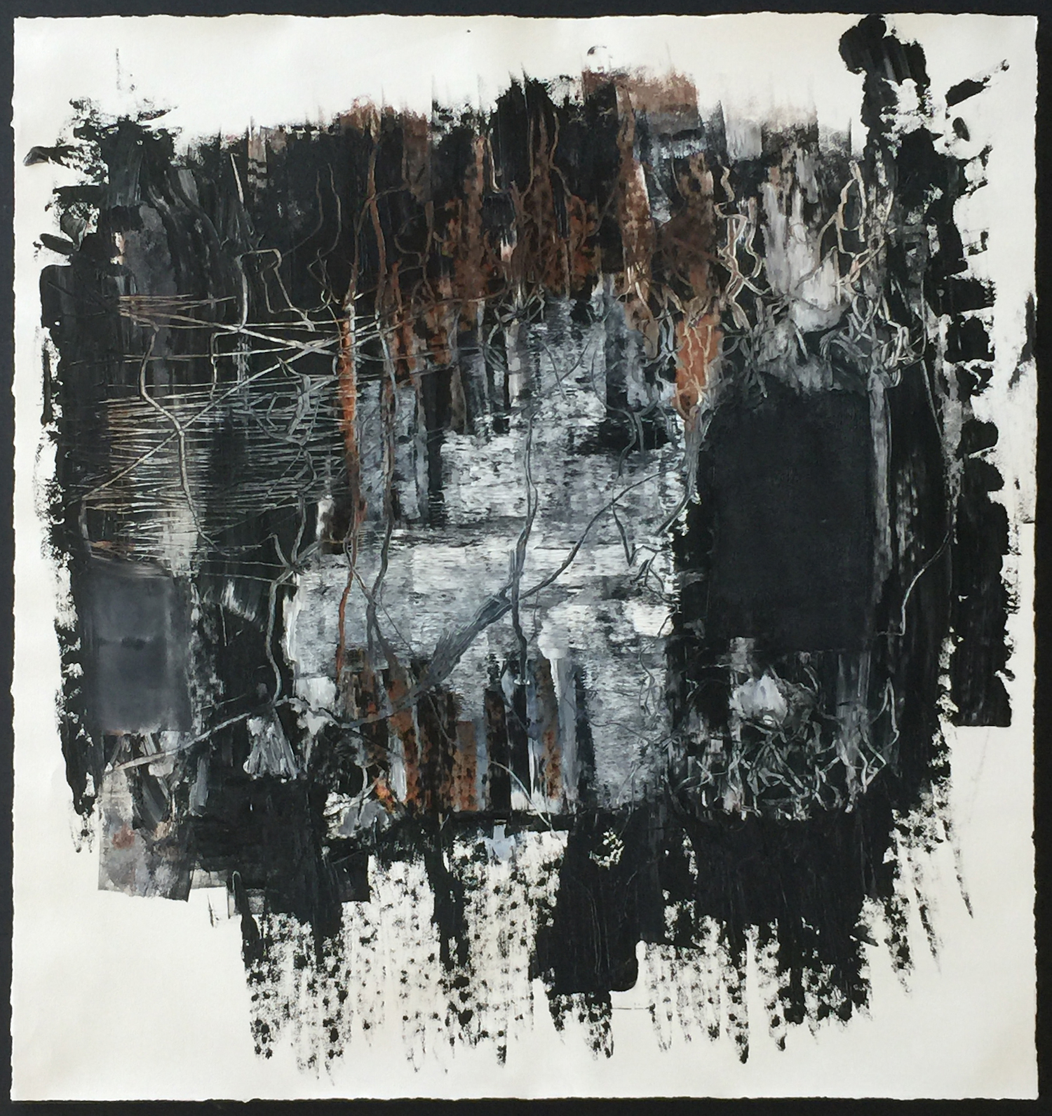 """WHEN ITS NOT FAR 48"""" x 46"""" / Mixed Media on Paper"""