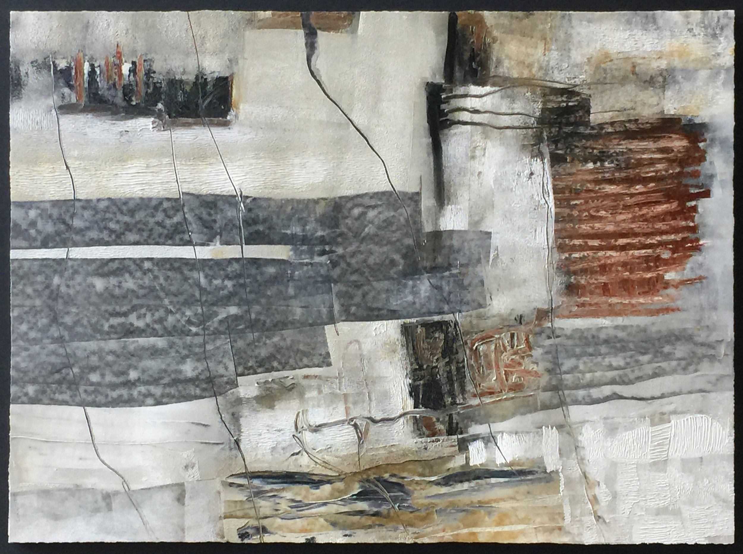 """SOMEONE'S SURVEY 32"""" x 48"""" / Mixed Media on Paper"""