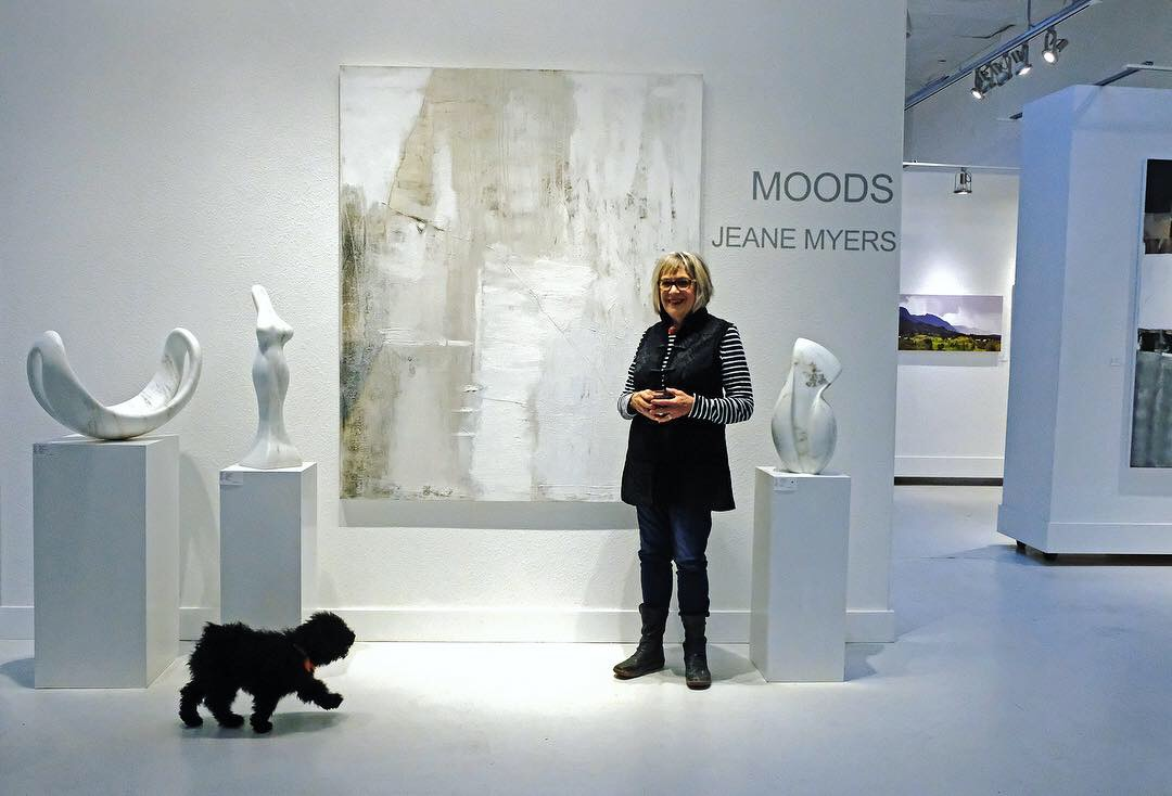Jeane Myers and a furry admirer