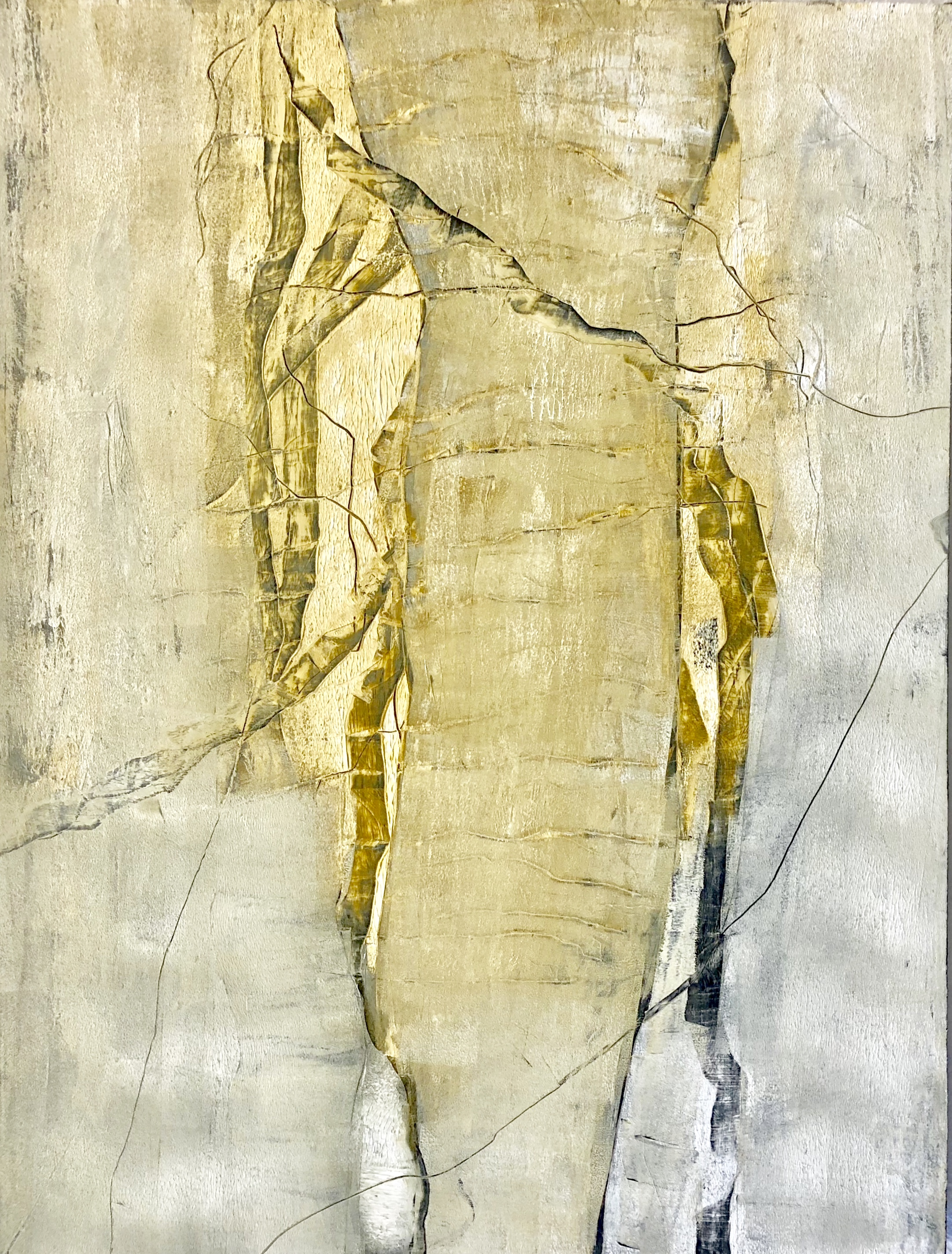 """ON THE DRIVE BACK  40"""" x 30"""" / Mixed Media"""