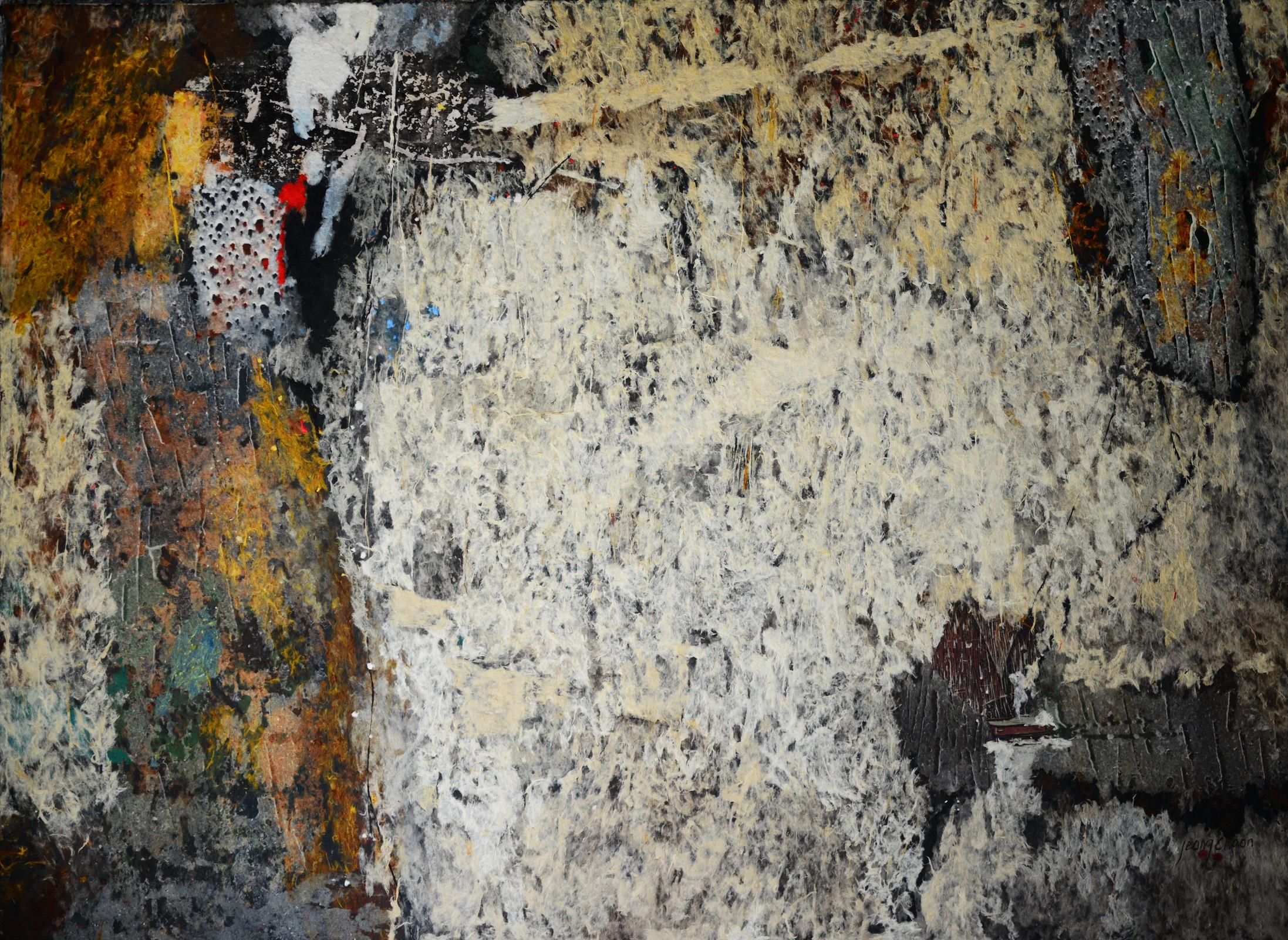 """TAECHO 1803 (THE BEGINNING 1803 ) 70"""" X 96"""" / Handmade Paper"""