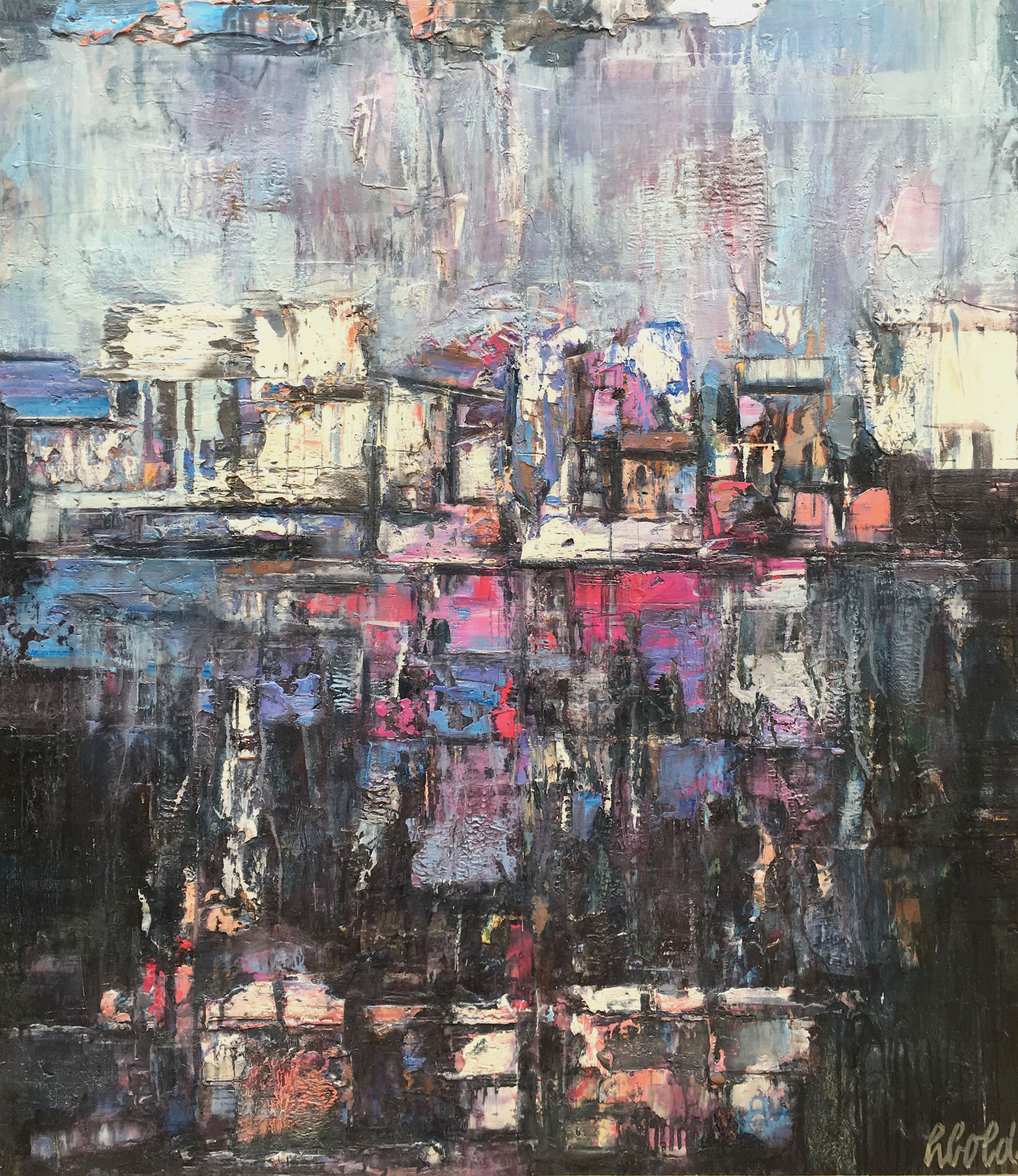 ARCHITECTURE AND LANDSCAPE  46.5″ X 40.5″ / Mixed Media