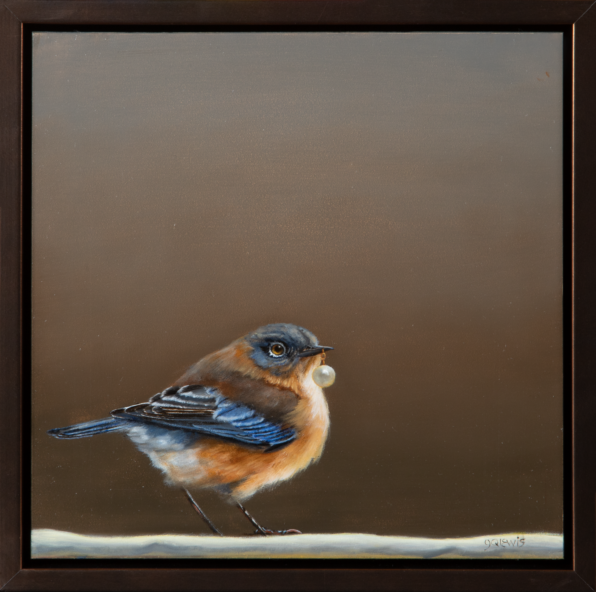 BIRD WITH THE PEARL EARRING  8″ X 8″ / Oil