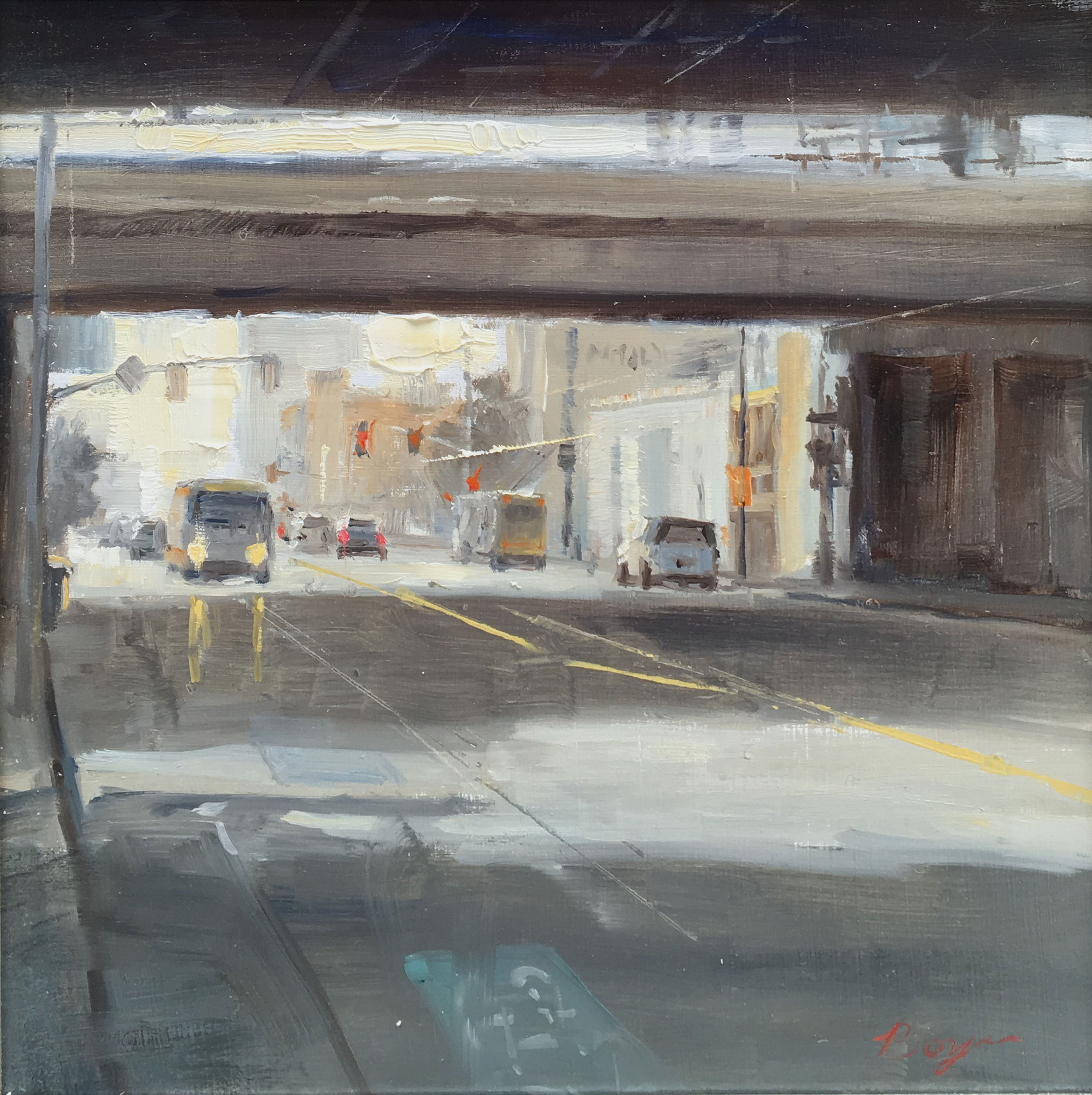 THE UNDERPASS  12″ X 12″ / Oil