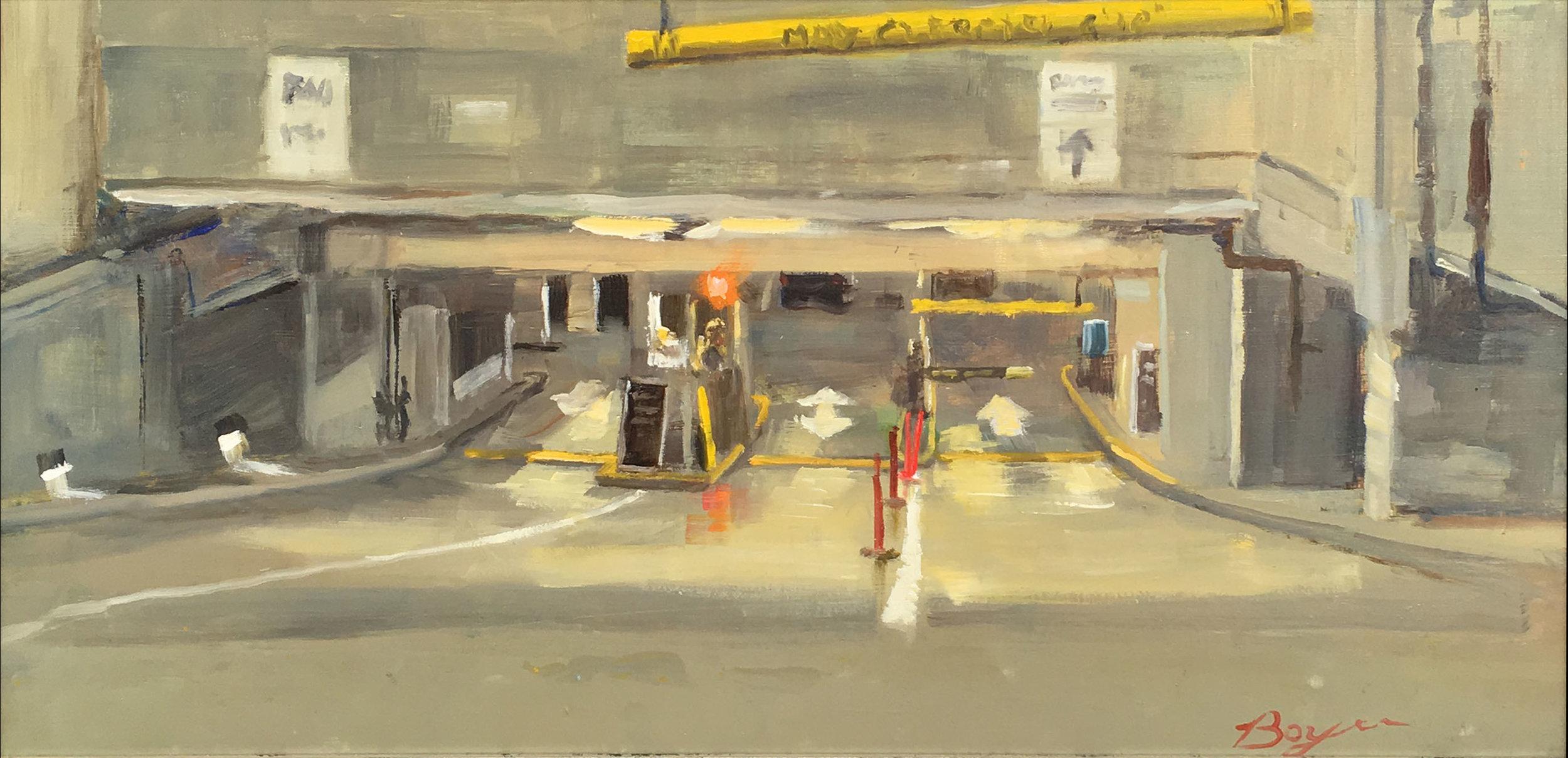 PARKING GARAGE  10″ X 20″ / Oil