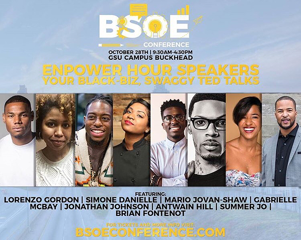 Hype isn't even the word, for @theblackburdell's  Business School of Entrepreneurship Conference. 💃🏽💃🏽💃🏽 . . If you're a minority entrepreneur, creative, or simply wanting to grow your biz/ idea this is the place to be. It's all going down this weekend, Oct 28! 🗣 . . Check out this line up y'all! 👀🔥 #BSOECON isn't holding back. Click the tags + see for yourself. These presenters aren't all talk, they're about their business! And they have the receipts to back it 💯👌🏽 . . Please, believe I'll be there with notebook in hand catching all the gems. And sharing a few I've learned alongside some pretty dope presenters for the #Enpowerhour Tedtalk series. 💎💡 . . This is an event you don't want to miss.  Go buy your tix... Now!  Click the link in @theblackburdell's bio (or visit bsoeconference.com) . . Can't wait to see you there! 😁✌🏽