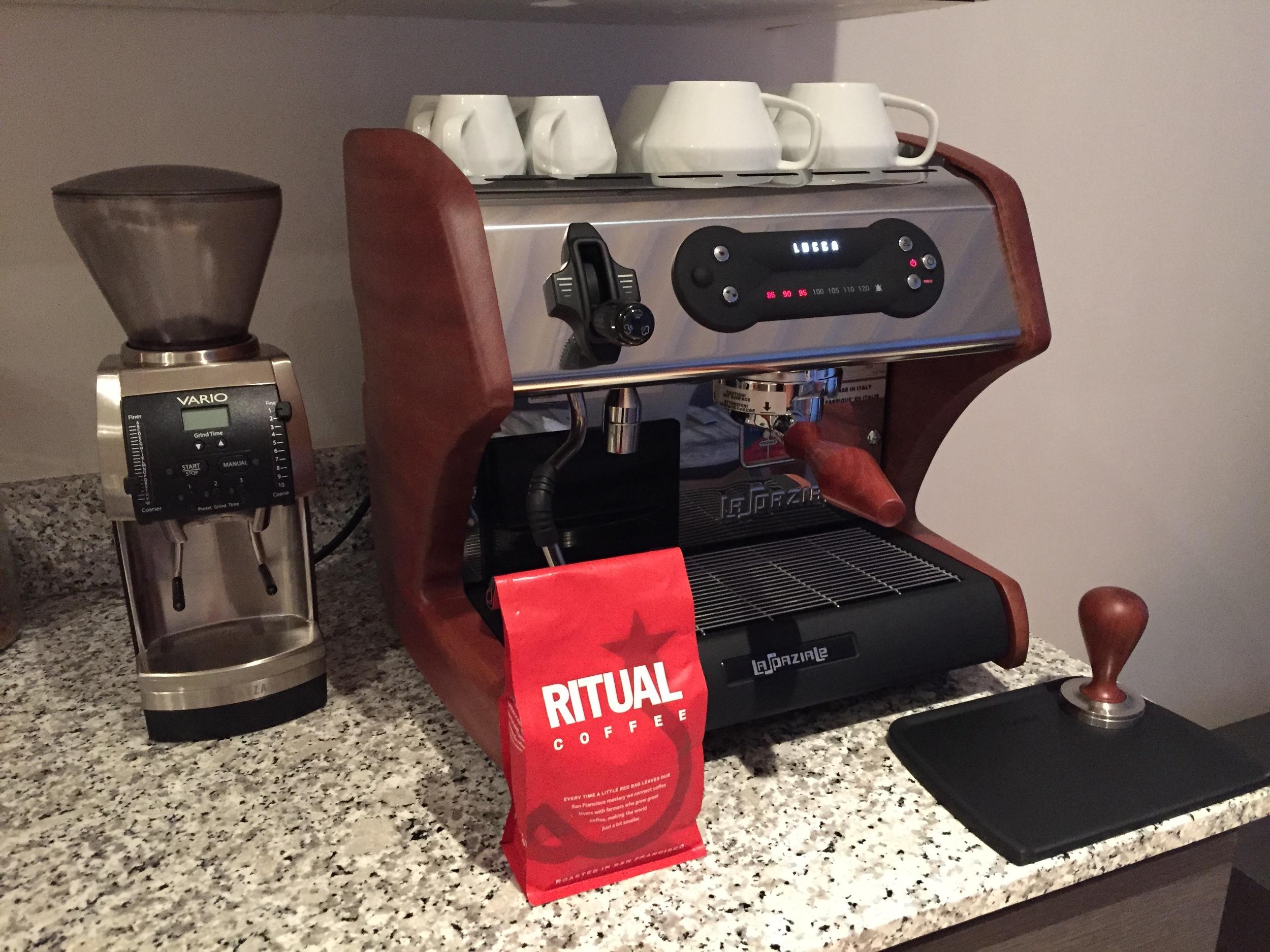 Brandon's excellent home espresso setup