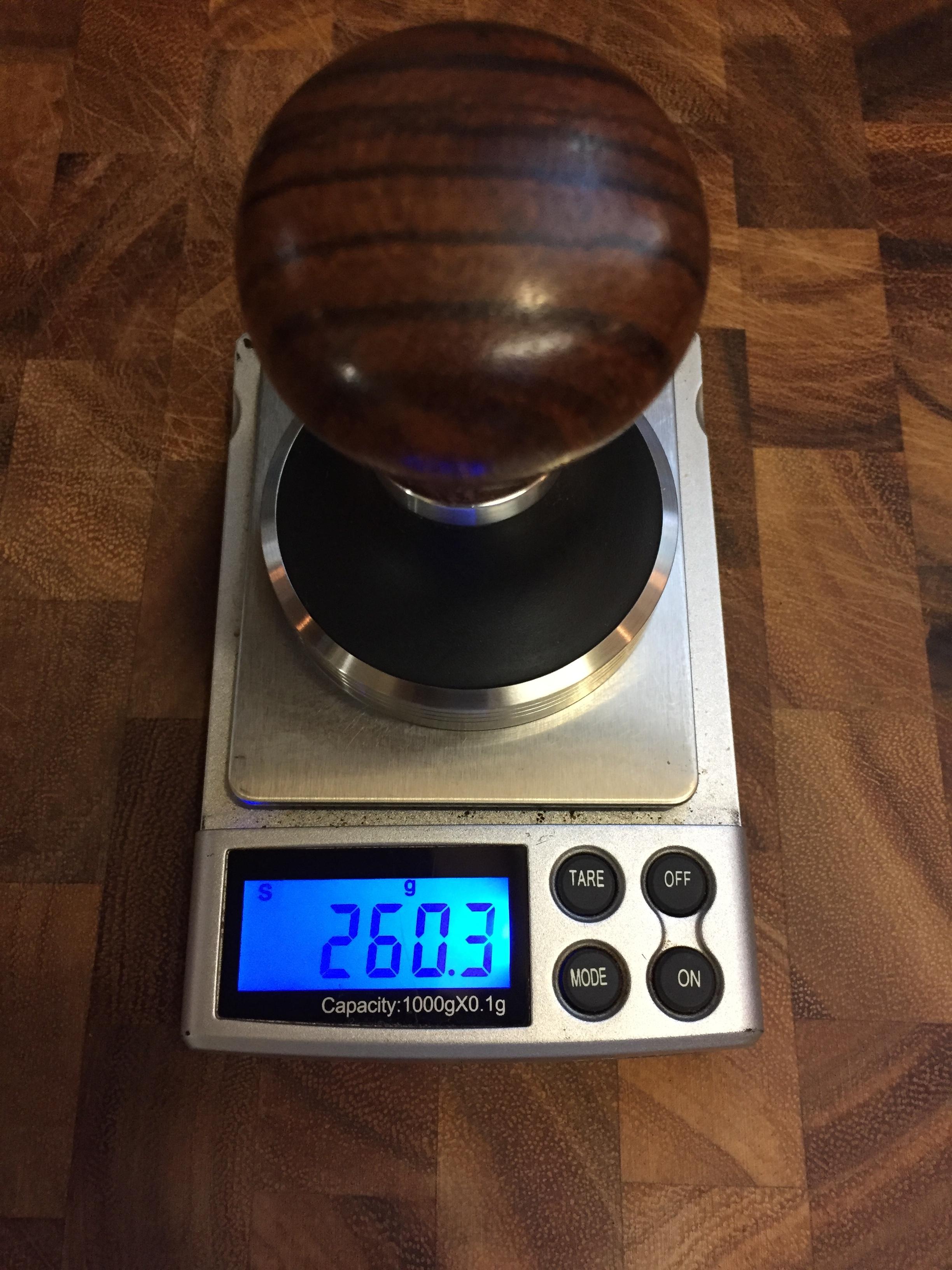 Pullman tamper weight.JPG