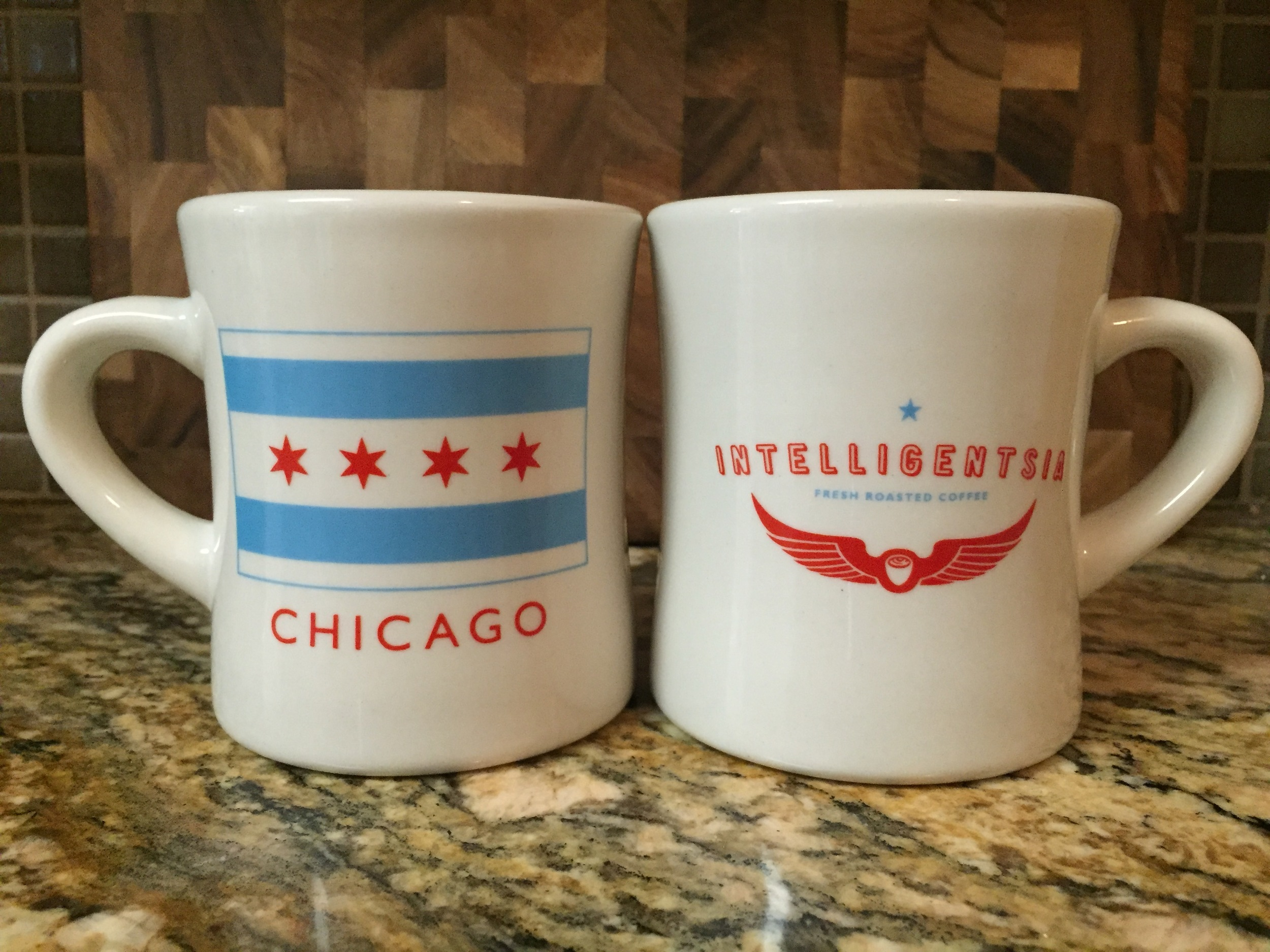 The dinner mug is thick, well insulated, and a great shape. These from Intelligentsia Coffee made for a great gift. Click through for more info.