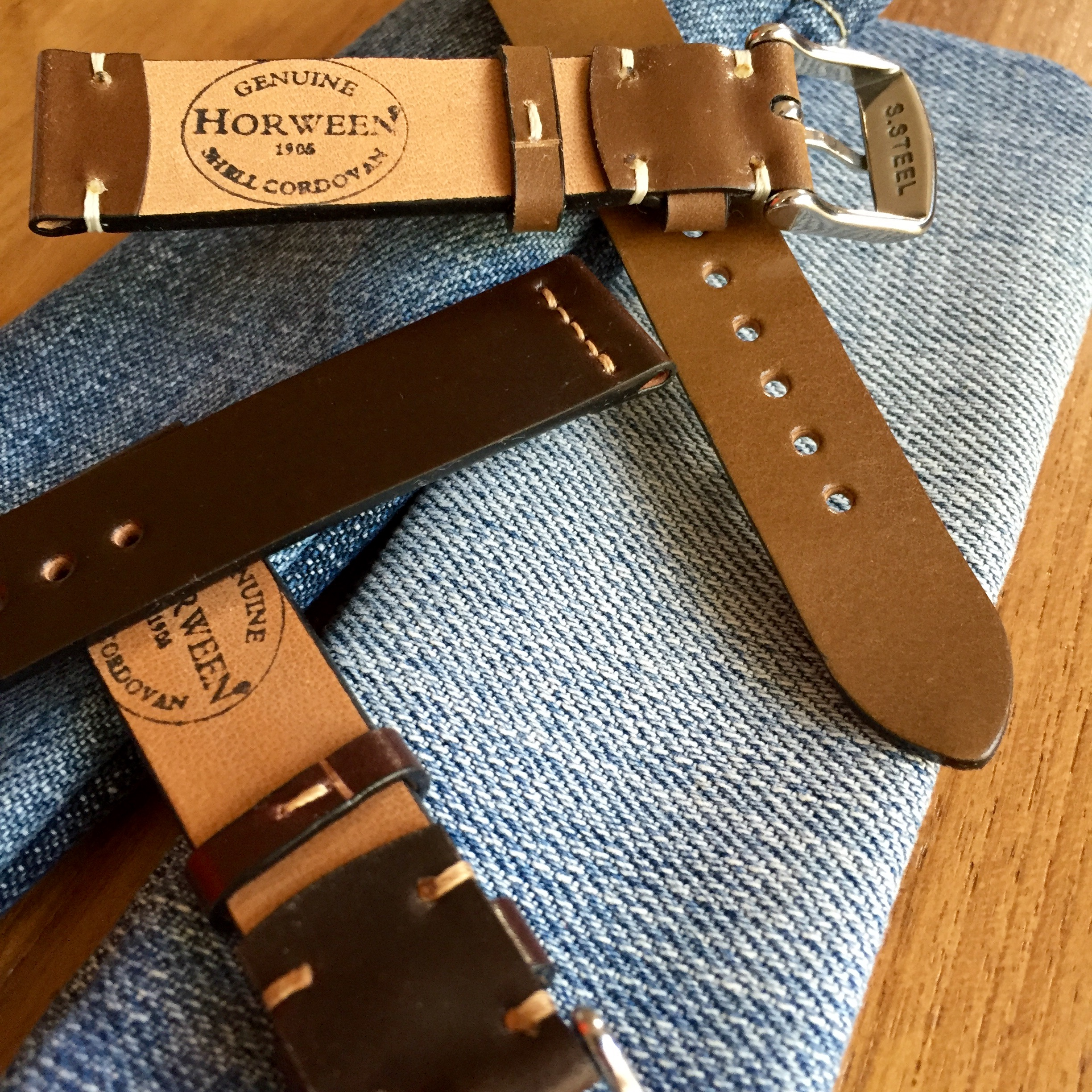 Horween Shell Cordovan Watch Straps