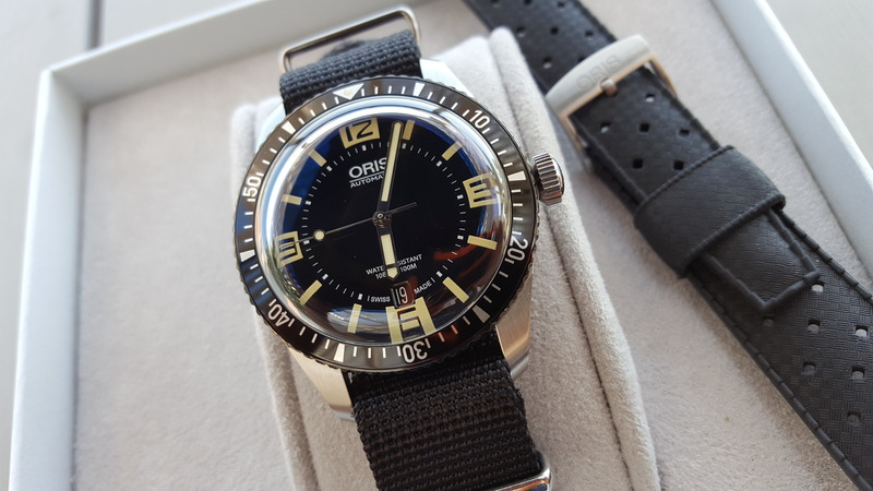 Oris Sixty-Five black dial with Nato and Tropic strap in near new condition. Pic from FS listing, click through for more info.