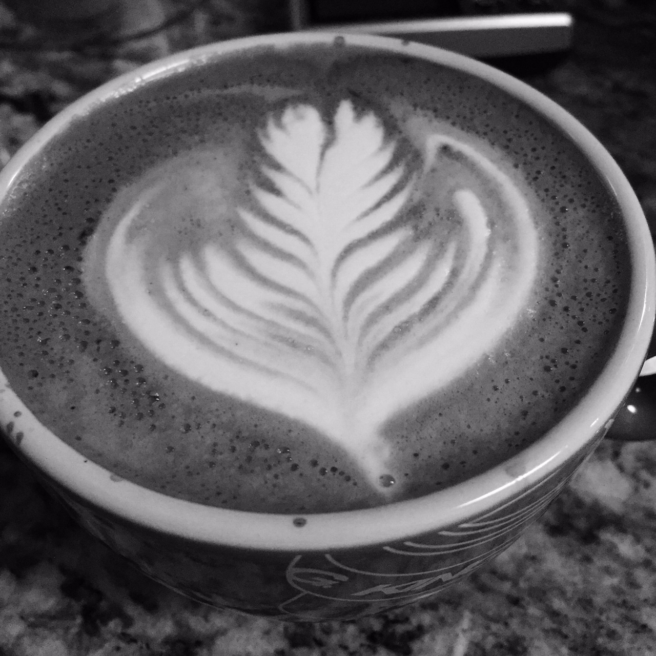 Been drinking too much espresso lately and my latte art is slipping :/