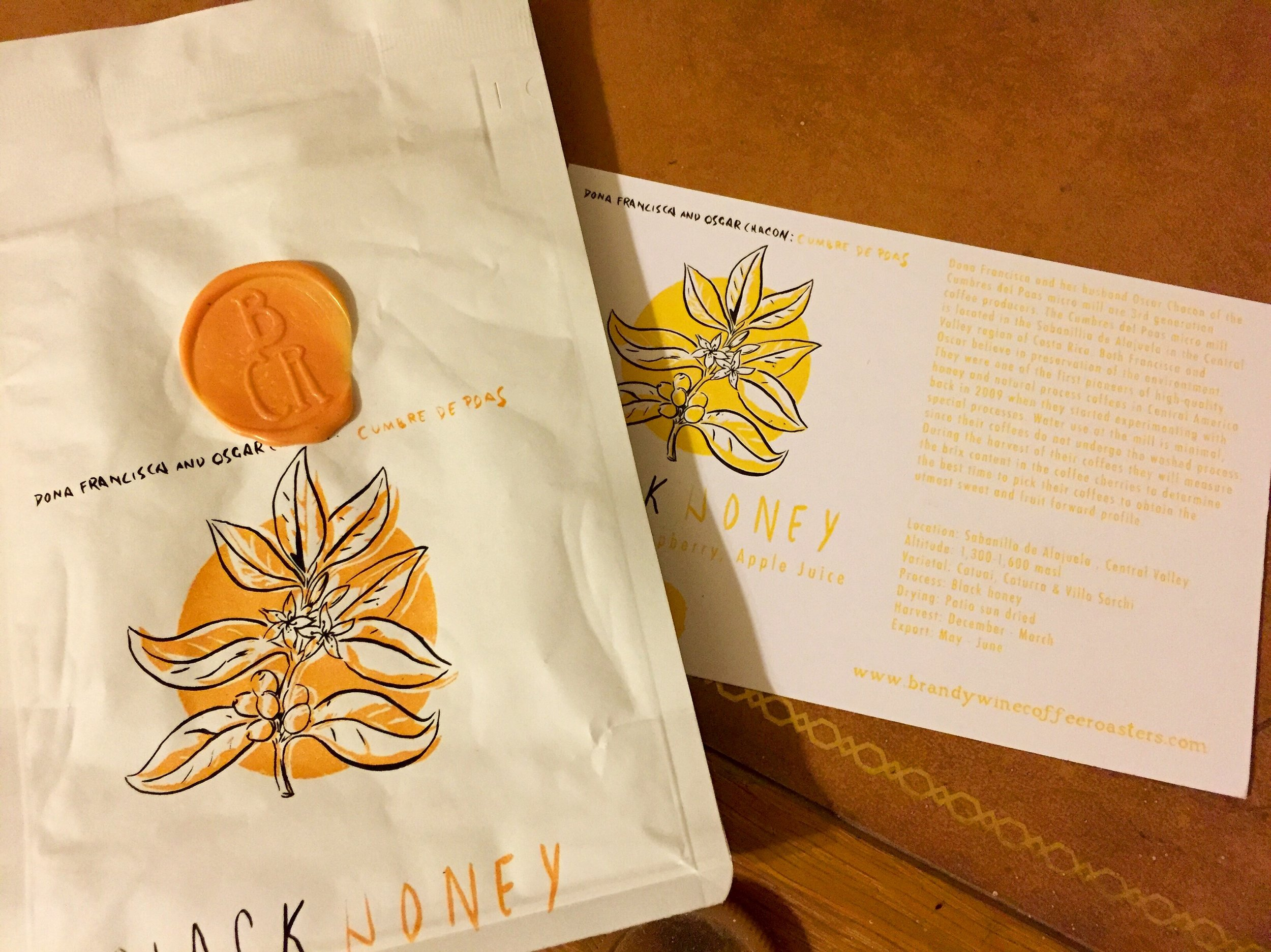 wax sealed, hand drawn, zipper bags, and custom info cards - there's a lot to like here