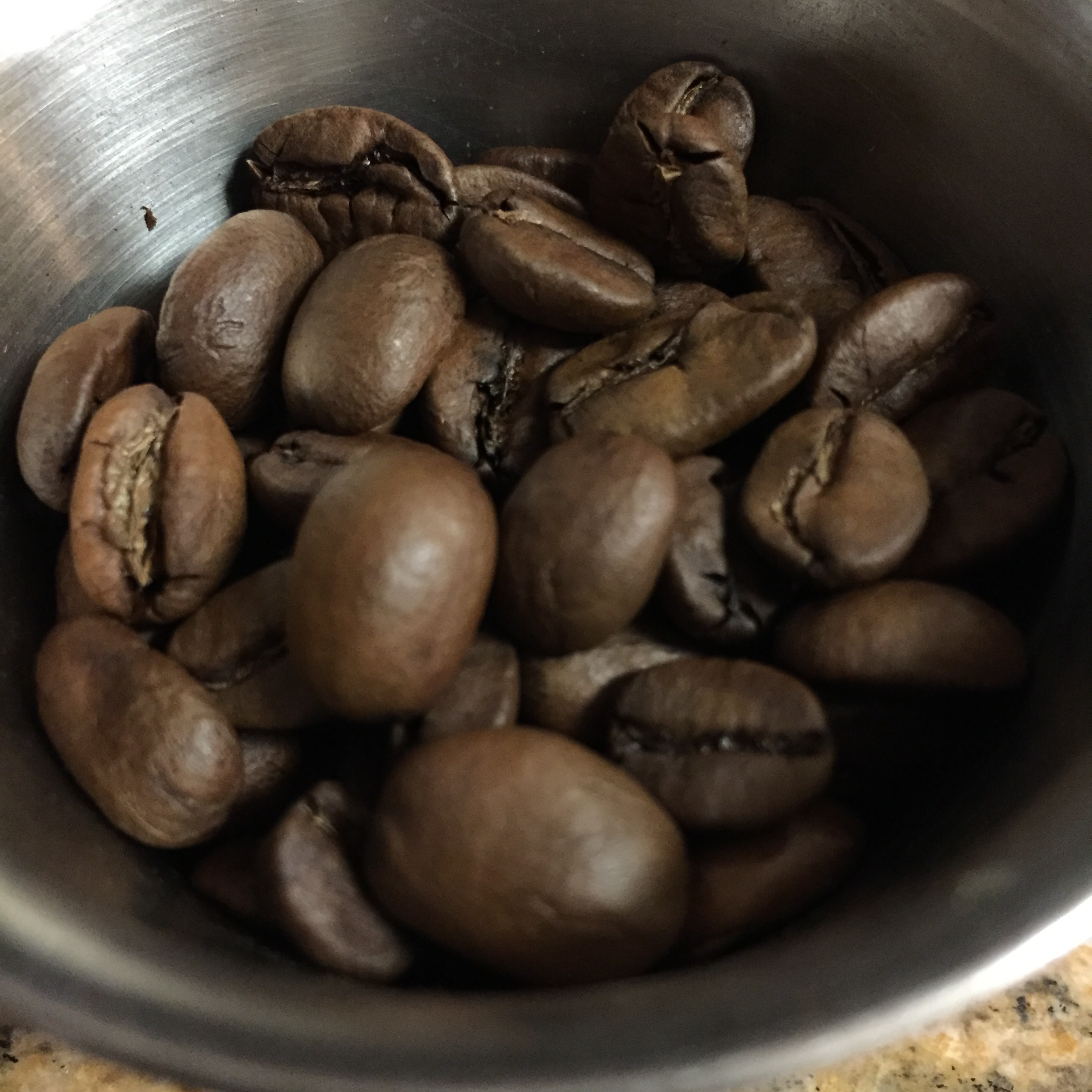 Really large, and evenly roasted beans.
