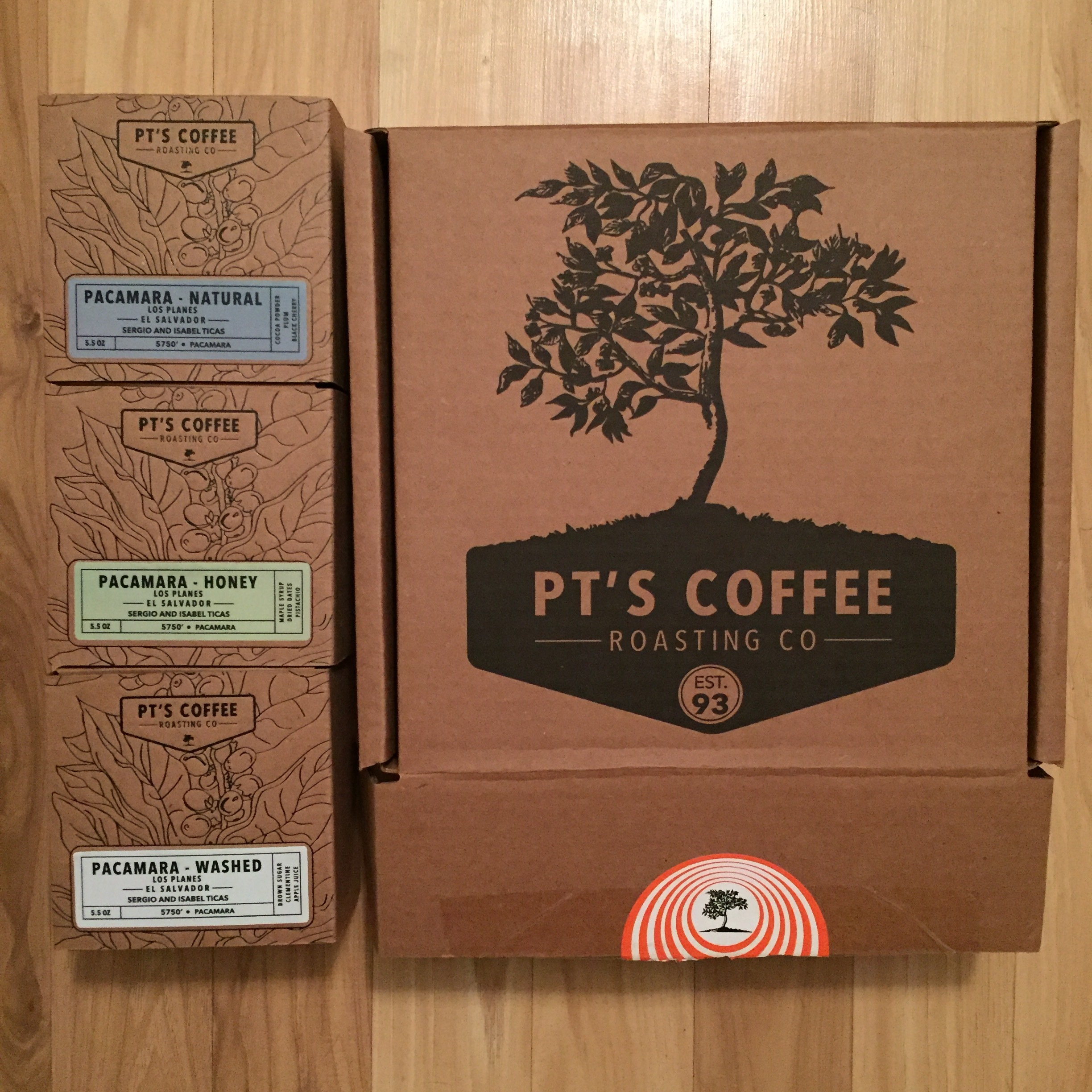 Fantastic packaging of this Pacamara lot.