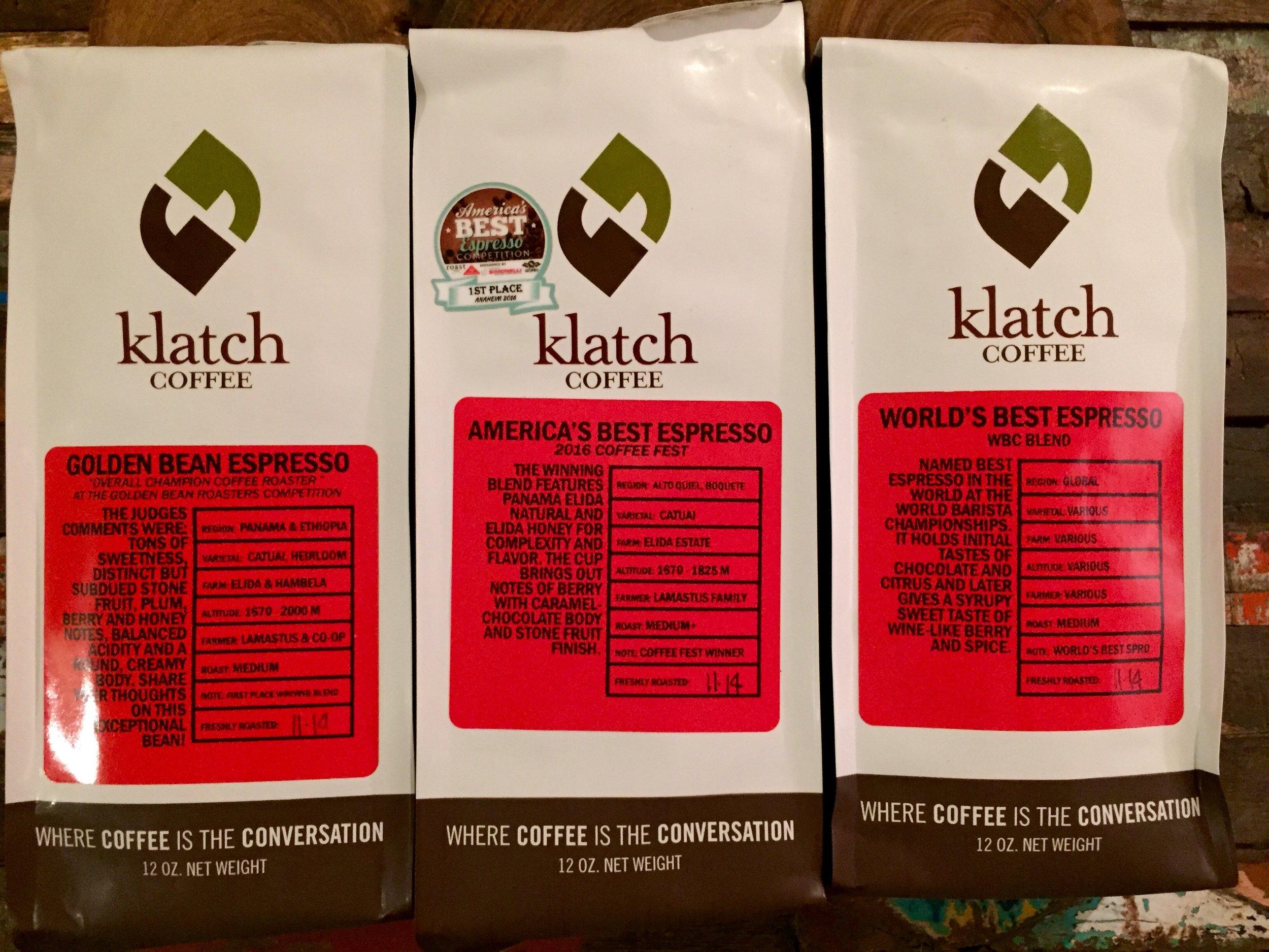 Klatch Espresso Trio