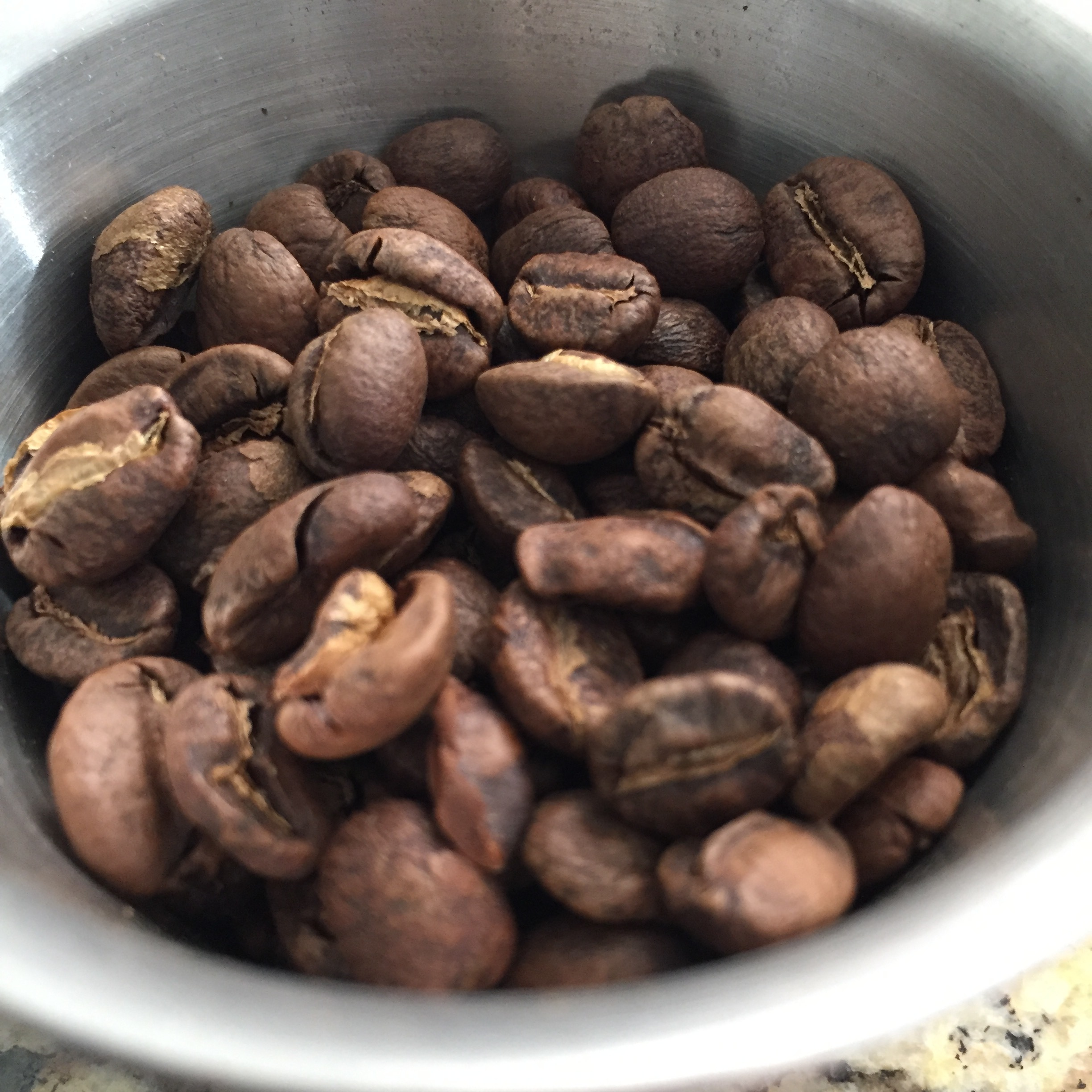 A nice medium density washed bean with a light, but developed roast, just like it should be.
