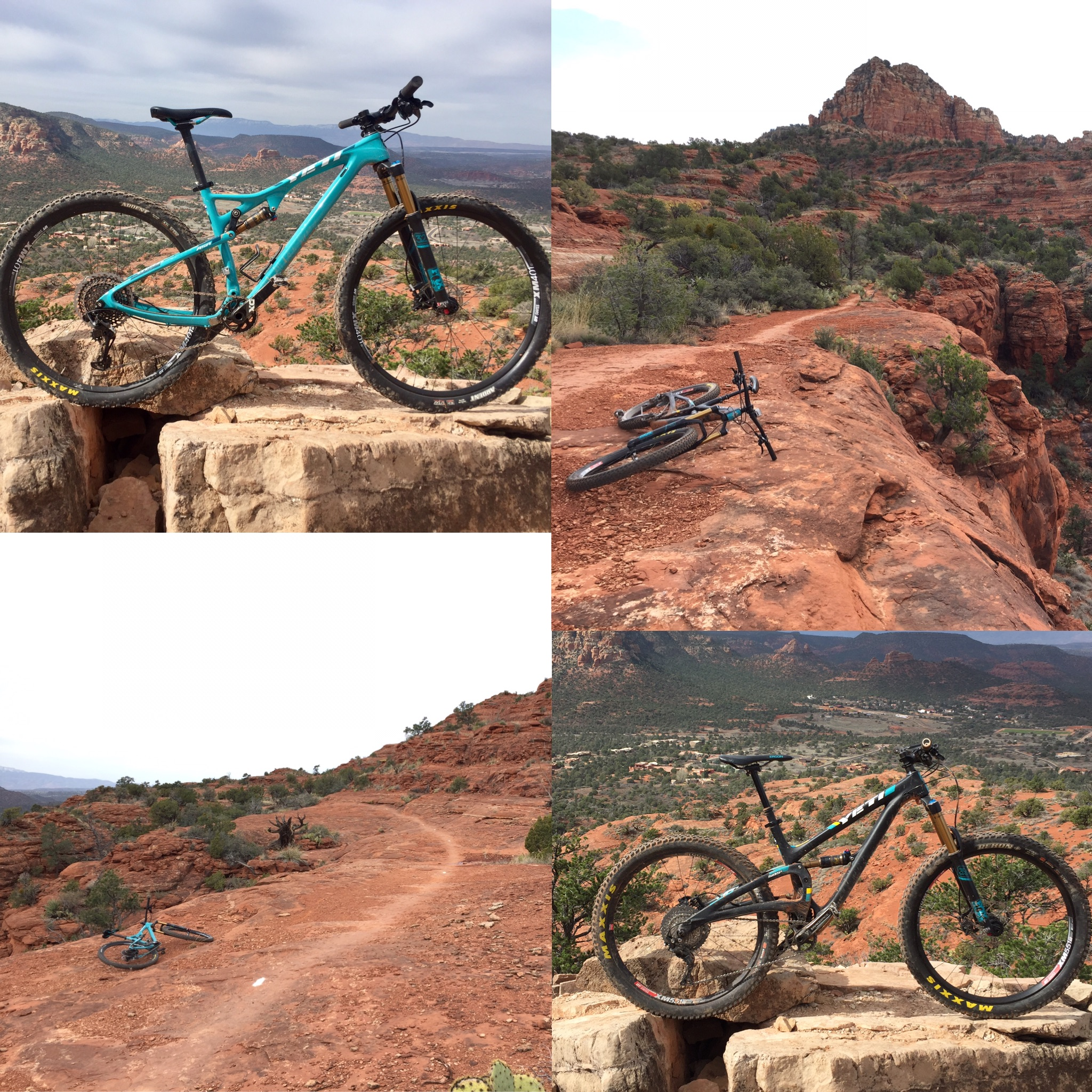 Having these two bikes on some of Sedona's best trails made for a good day.