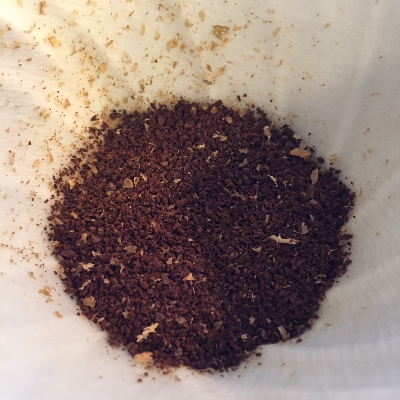 Lots of chaff from this washed coffee.
