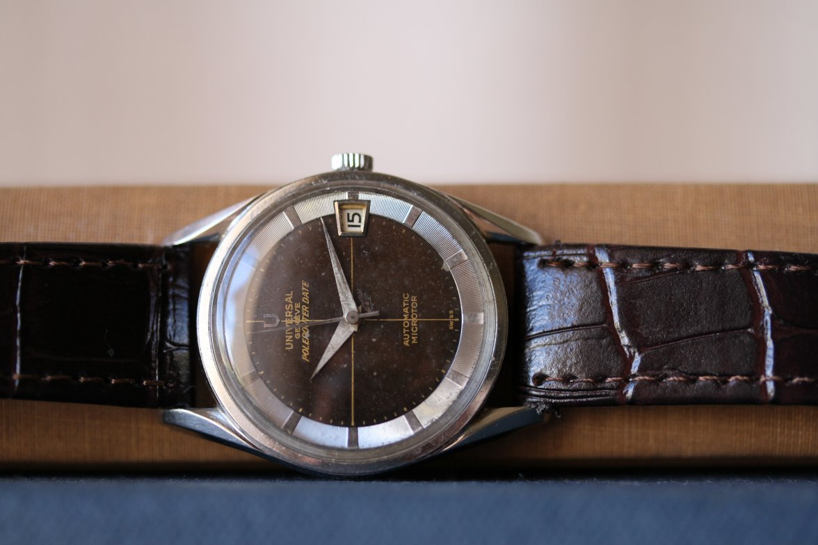 This watch is so classy, so understated, but with so much character and charm. Picture from OF for sale ad, click through for more info.