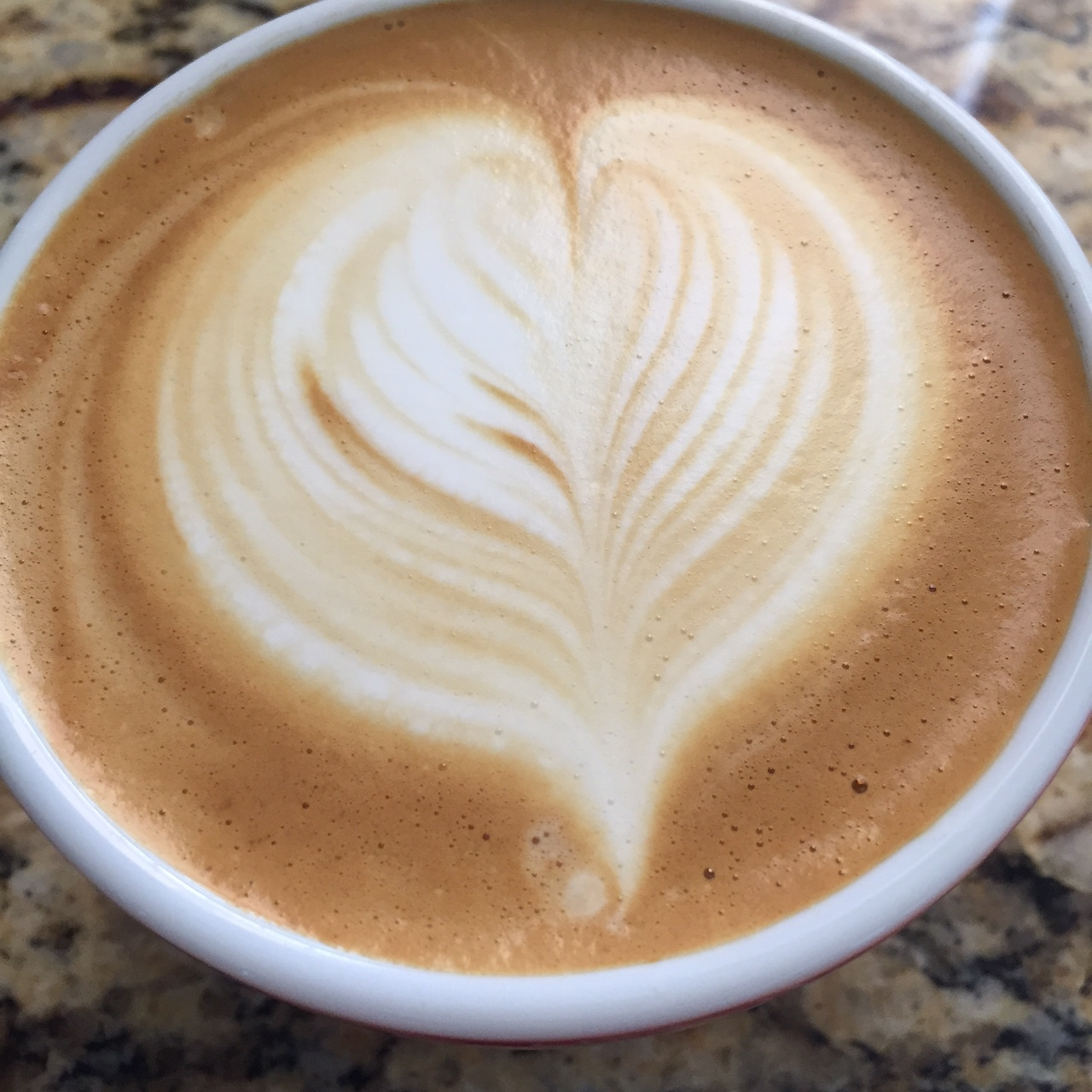 A traditional 5.5 ounce cappuccino created a sweet and creamy cappuccino with plenty of bright sugars.