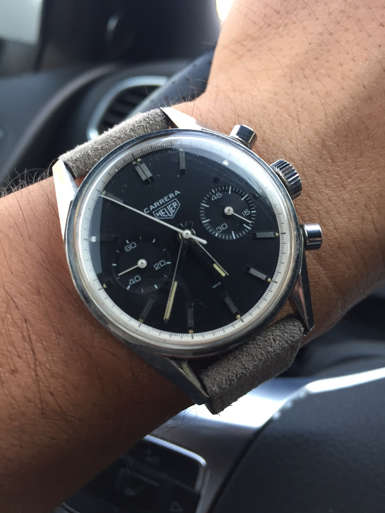This Carrera was my first big watch purchase, and one I'll hold onto forever. Jack Heuer's design principles and the history behind how this watch came about really appealed to me.