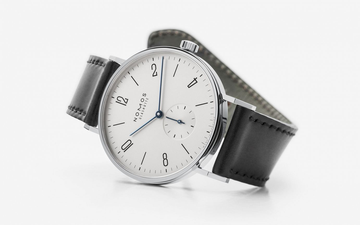 The Tangente is a classically modern and very timeless option. Photo from Nomos' store, click through to purchase.