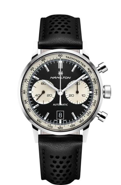 The case shape, dial layout, fonts, hands, everything is a great recreation, but it isn't necessarily trying to be vintage with faux lume. It's just a clean and functional design. Photo from Hamilton's website, click through for more info.