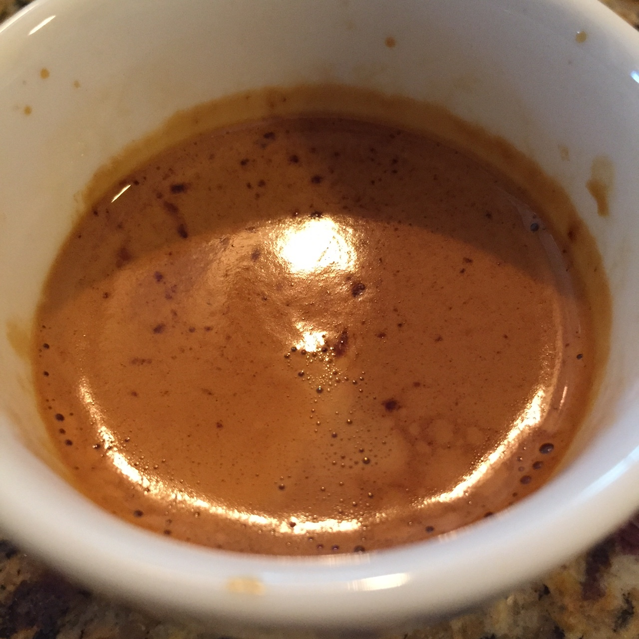 Good body from this coffee when brewed and pulled as espresso.