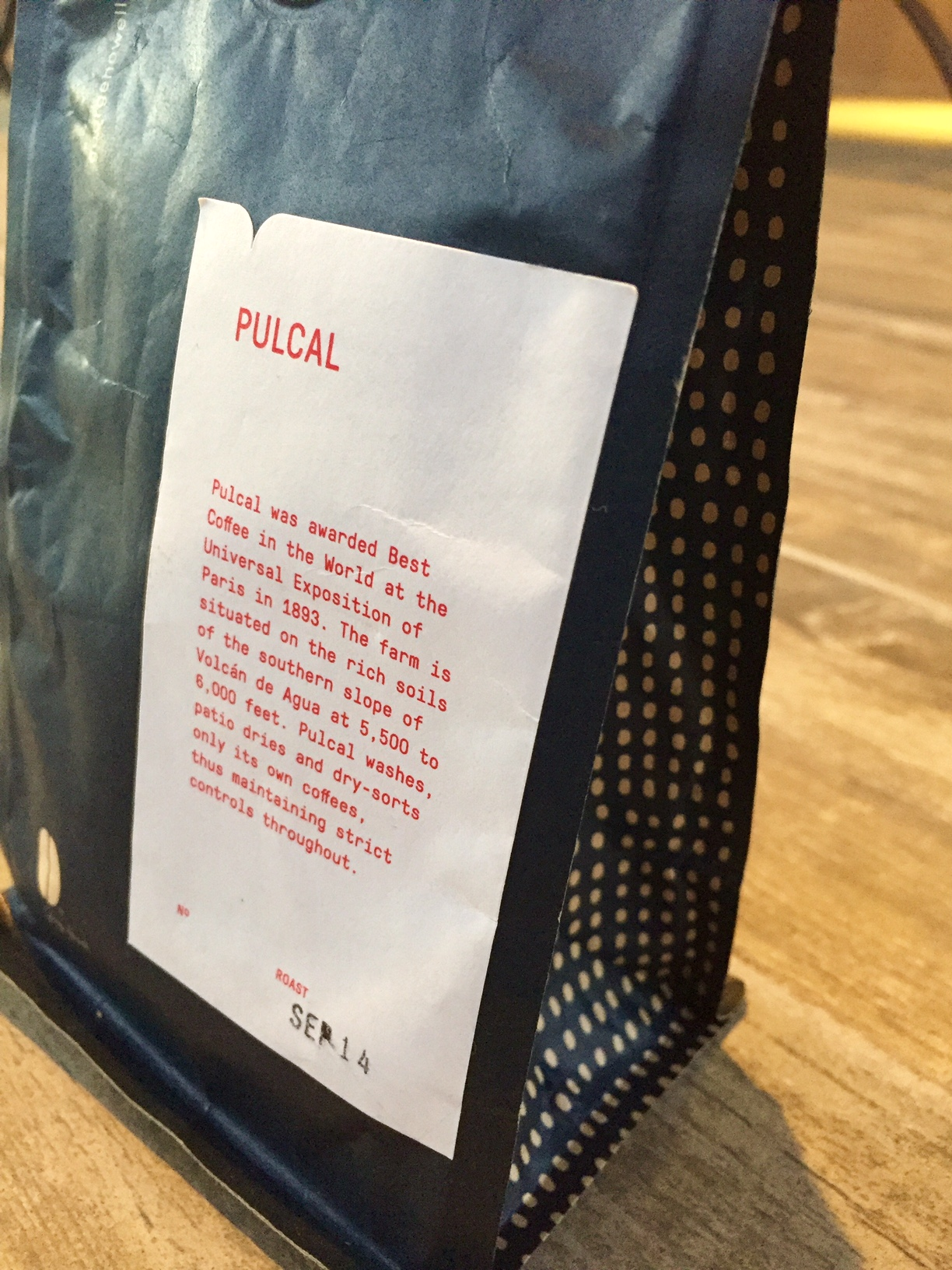 A great coffee with rich history from a great roaster with rich history.