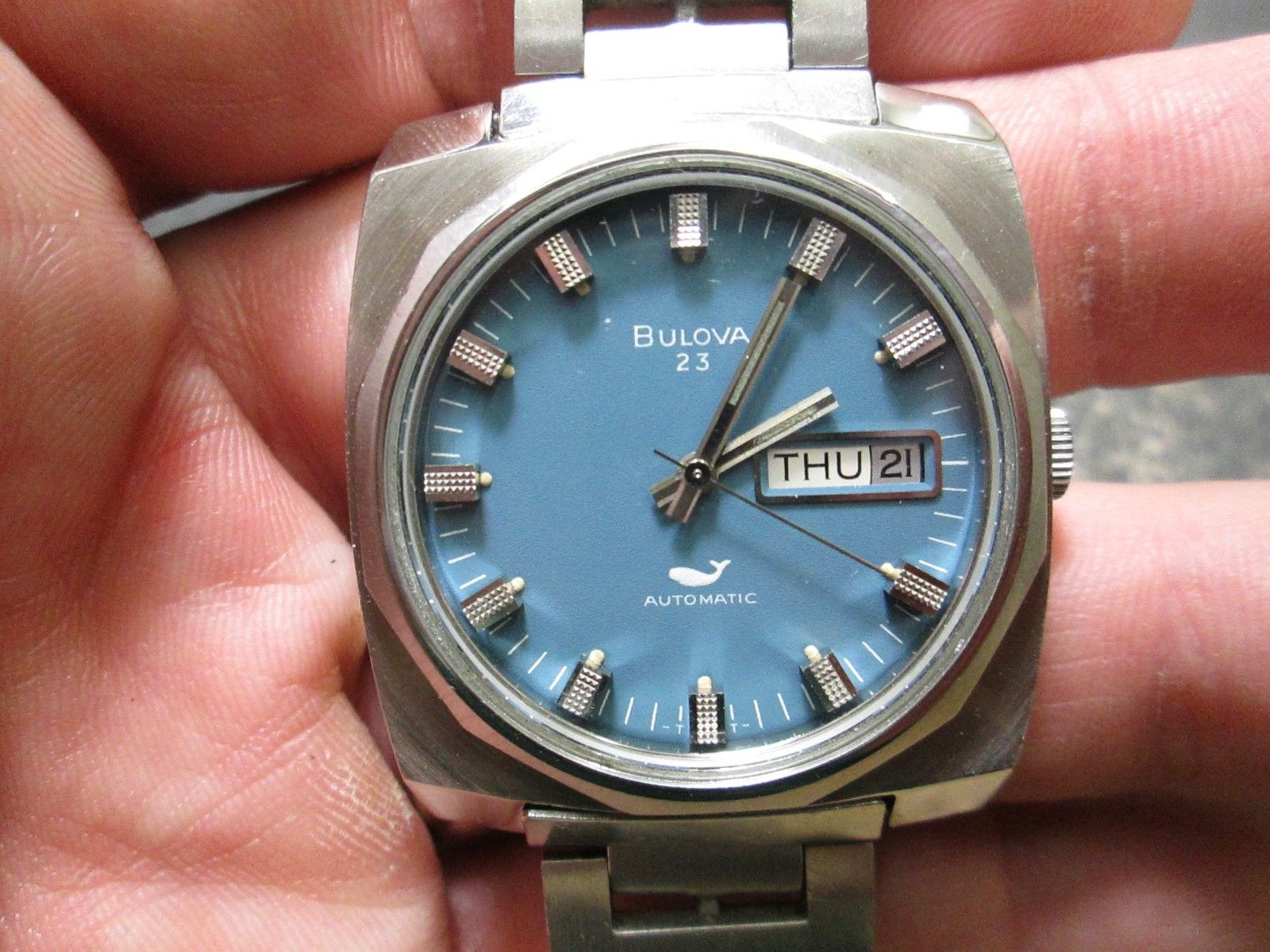 Is this the sexiest watch in the bunch, no? But it is cool, very clean, and has the original bracelet, and will presumably stay under the price of a Seiko 5, and that's a win in my book.  Click through for eBay listing.