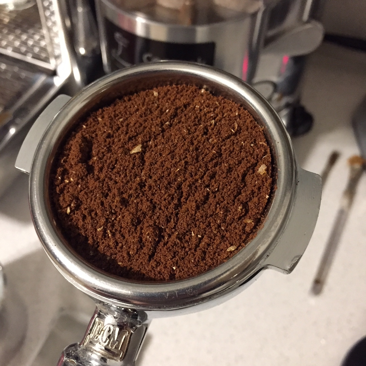Bumping up the ratio made for easier pulls, better tasting shots, and better filled the 18 gram VST basket.