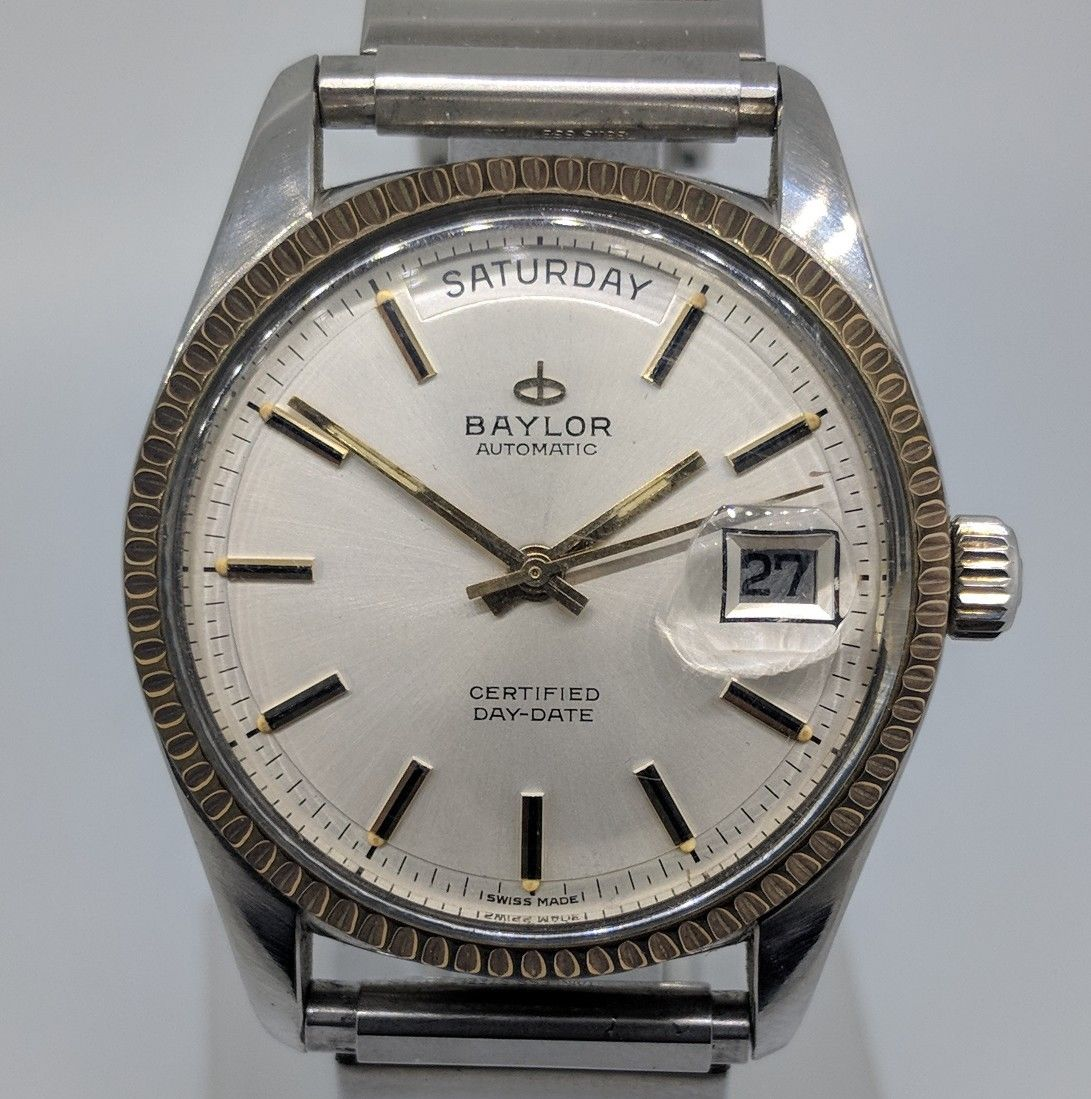 Brand aside, you could almost argue the greater amount of attractive patinated lume gives this watch a bit more character. And for less than the price of some nice shoes or what not, this has a lot going for it. Photo courtesy of eBay listing, click through for more details.
