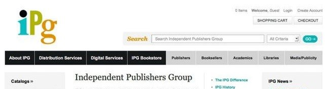Independent Publishers Group webpage