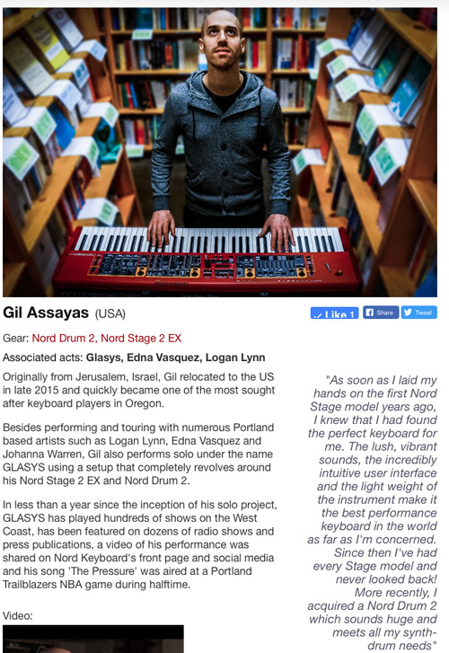 GLASYS' profile on Nord's website.