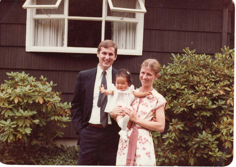 I arrived in the U.S. on April 15, 1981 when I was 7 months old.  Me and my parents at my grandmother's home, Long Island, New York, 1981.