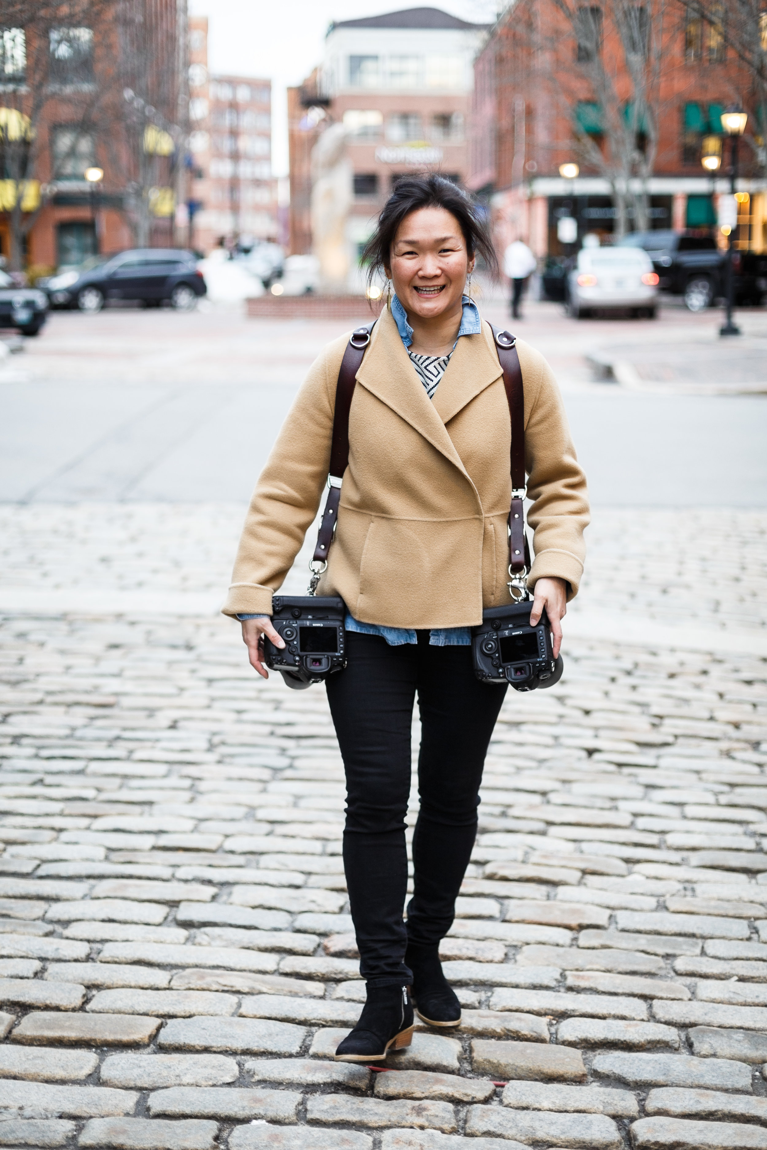 """""""Muppet"""" smiles are pretty much how I roll. Along with my leather HoldFast camera harness (you need one!)."""