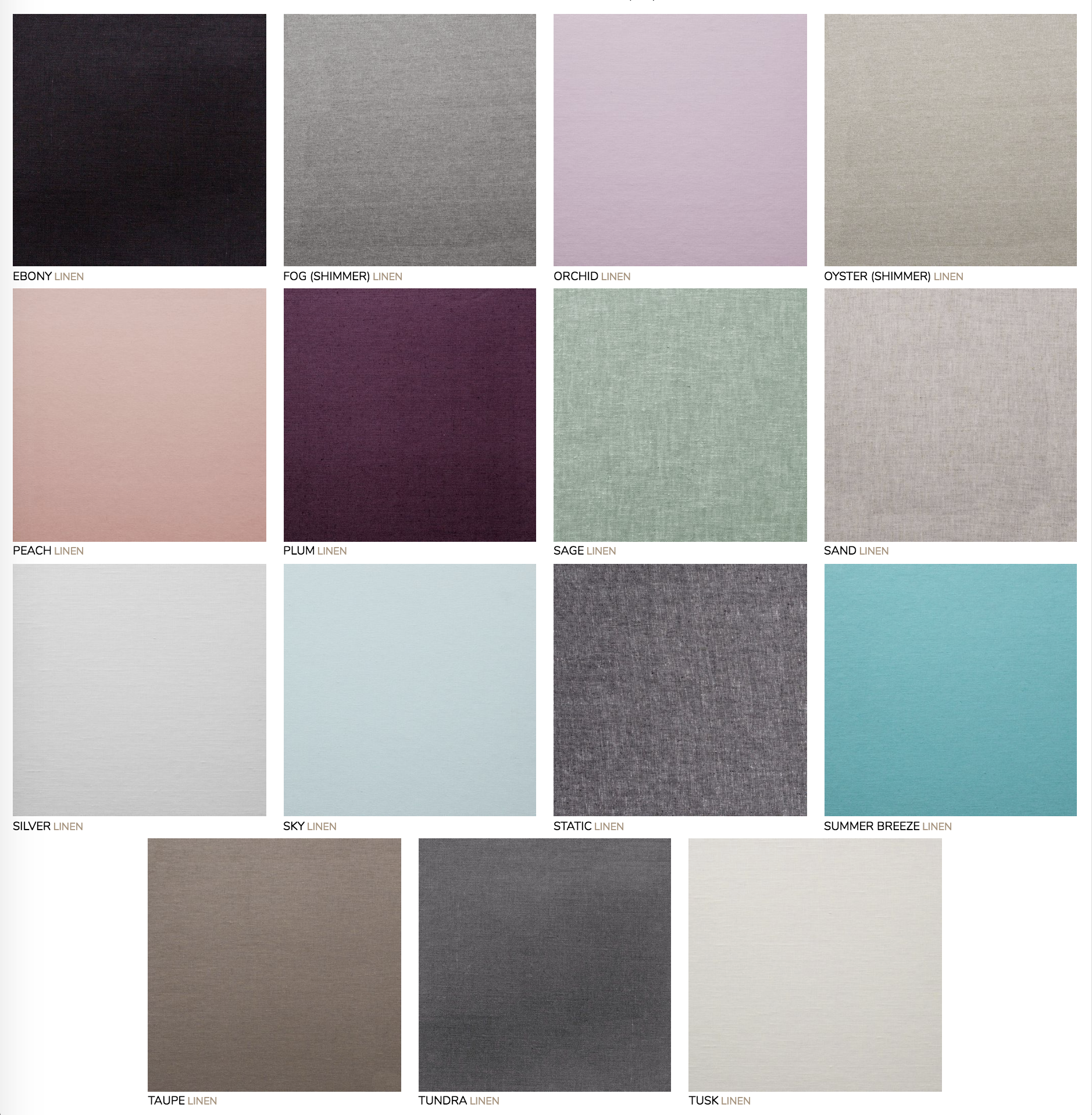 Linen Cover:  Wide range of colors, beautiful textile blend, soft fabric finish.