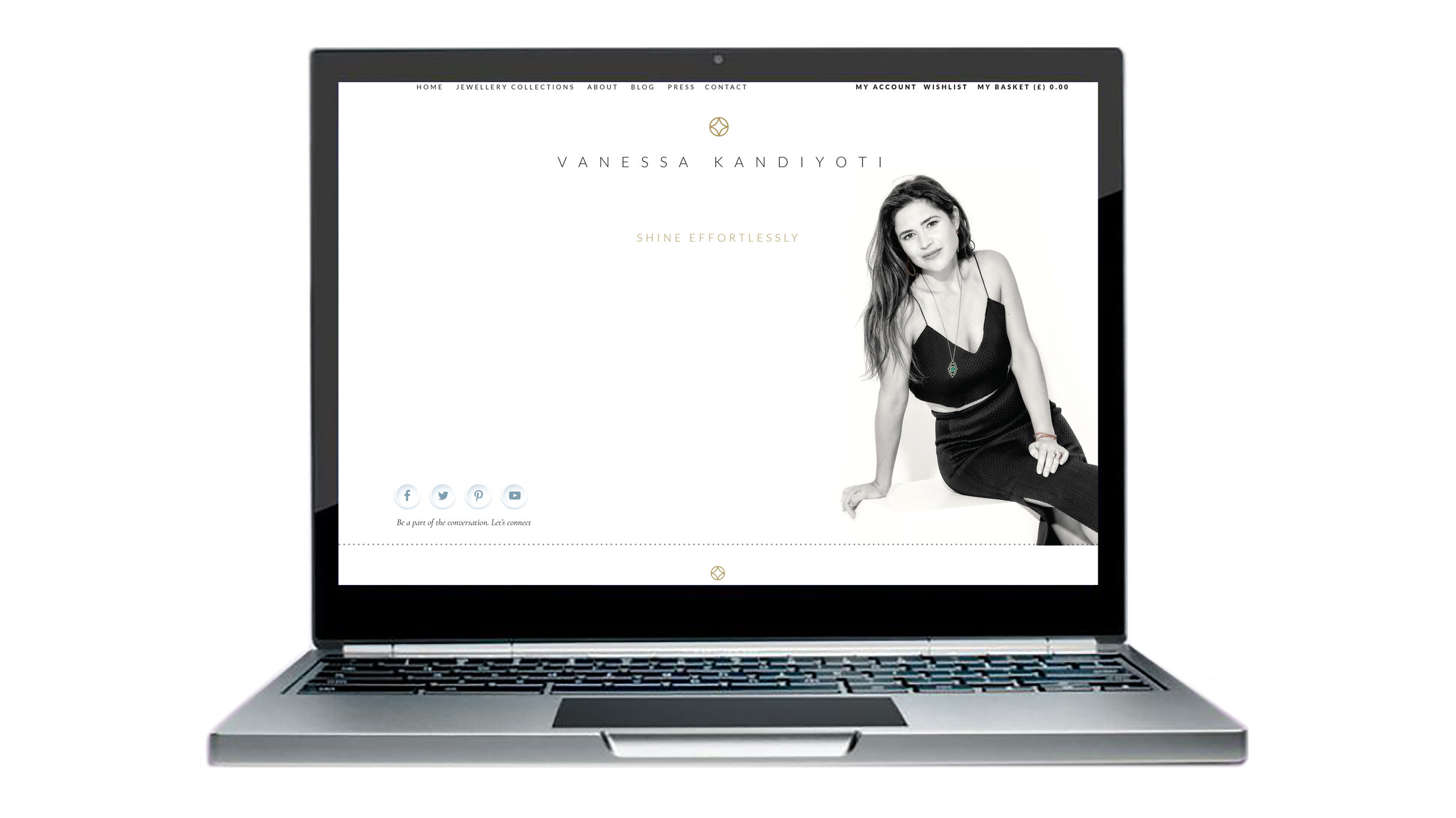 VANESSSA KANDIYOTI - SHINE EFFORTLESSLYFamed London jewelry designer, author and thought-leader, Vanessa Kandiyoti hired me to build her online presence and to give her brand a strategic reboot in 2016. The work included a redesign of her e-commerce site, the merging of her book,