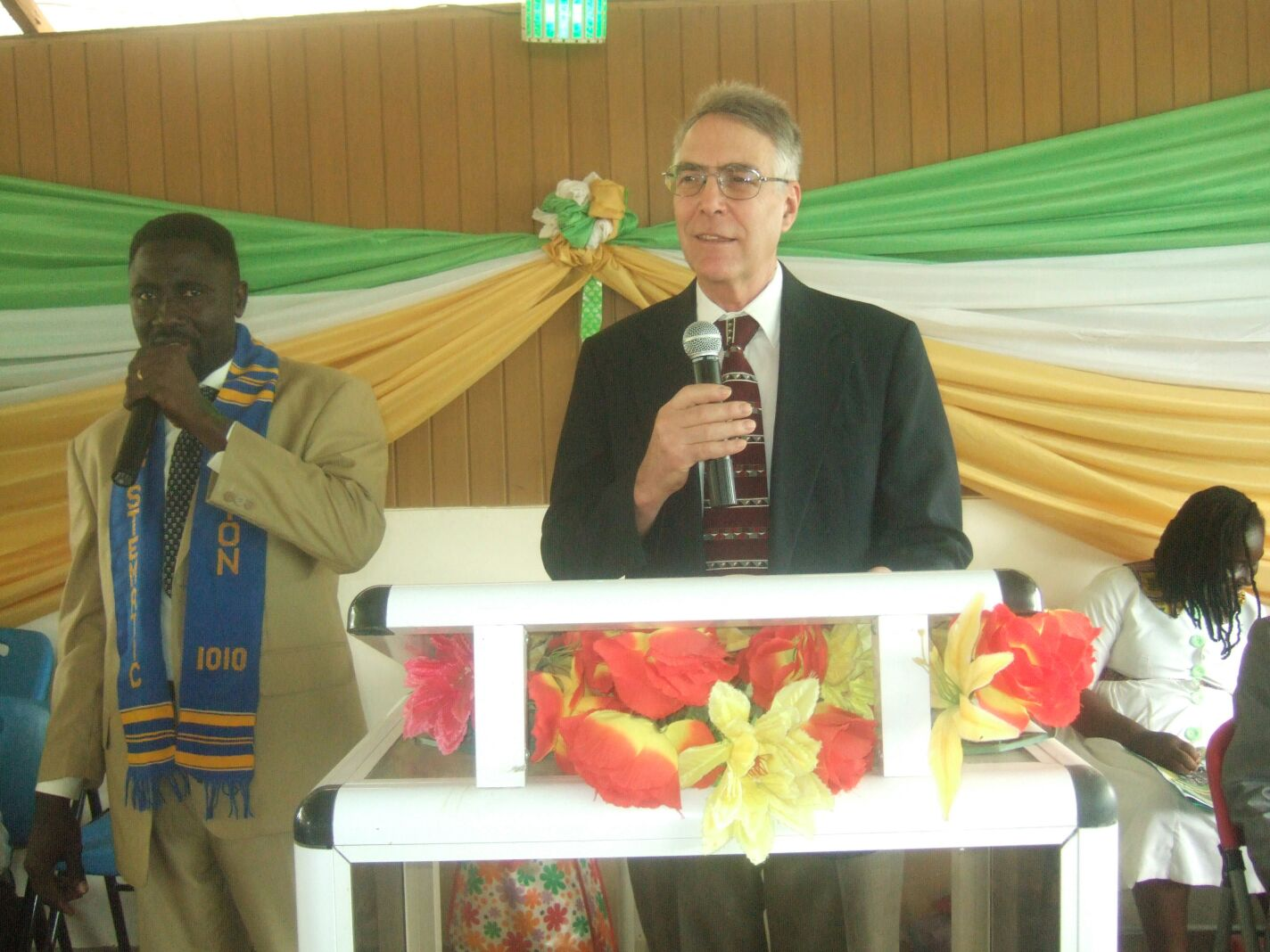 Francis Asante and Peter Smith in Ghana