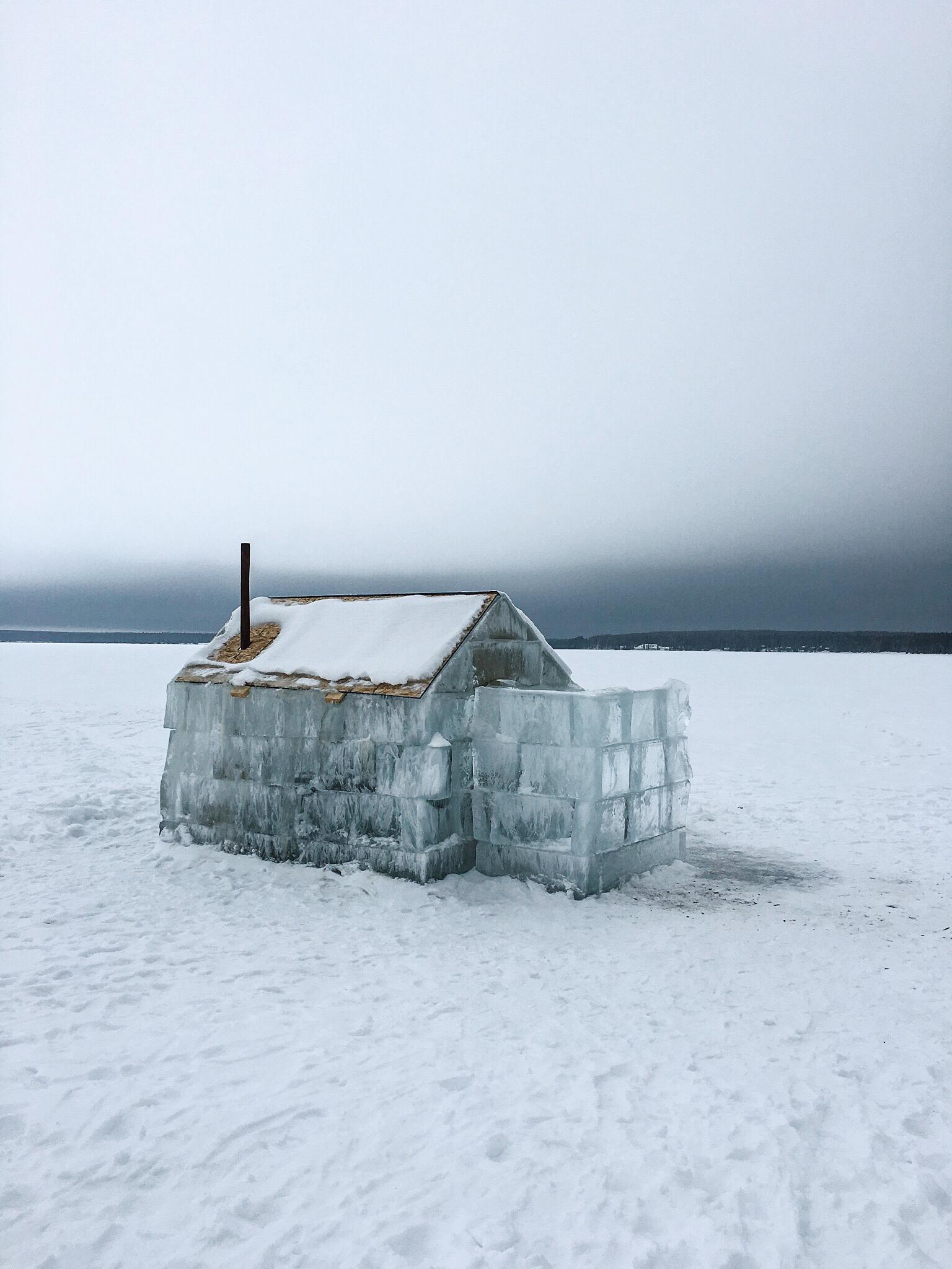 Ice Cabin in Saskatchewan.