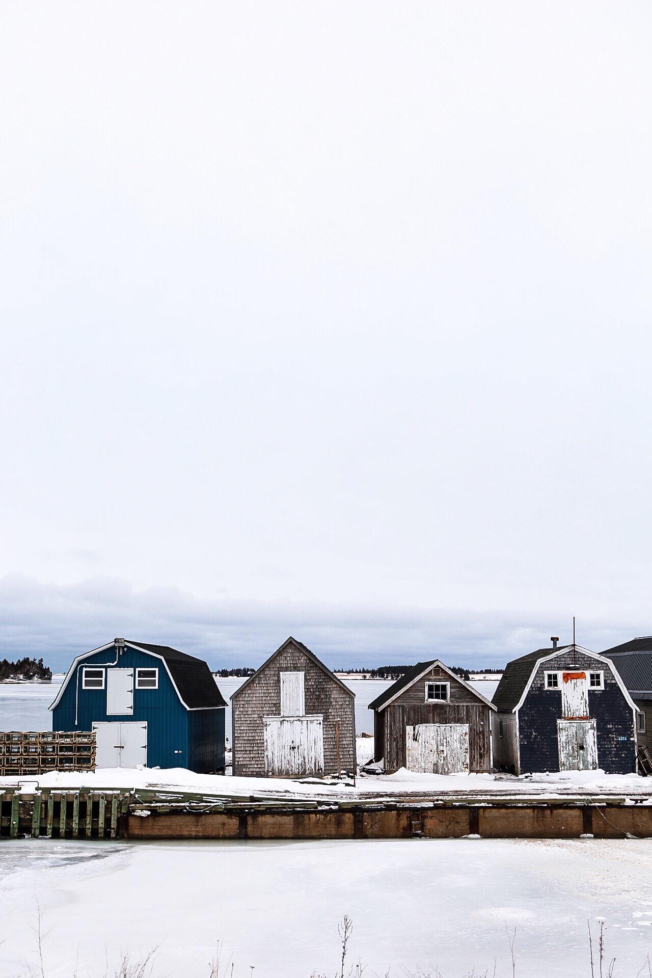 Fishing sheds on in Prince Edward Island.