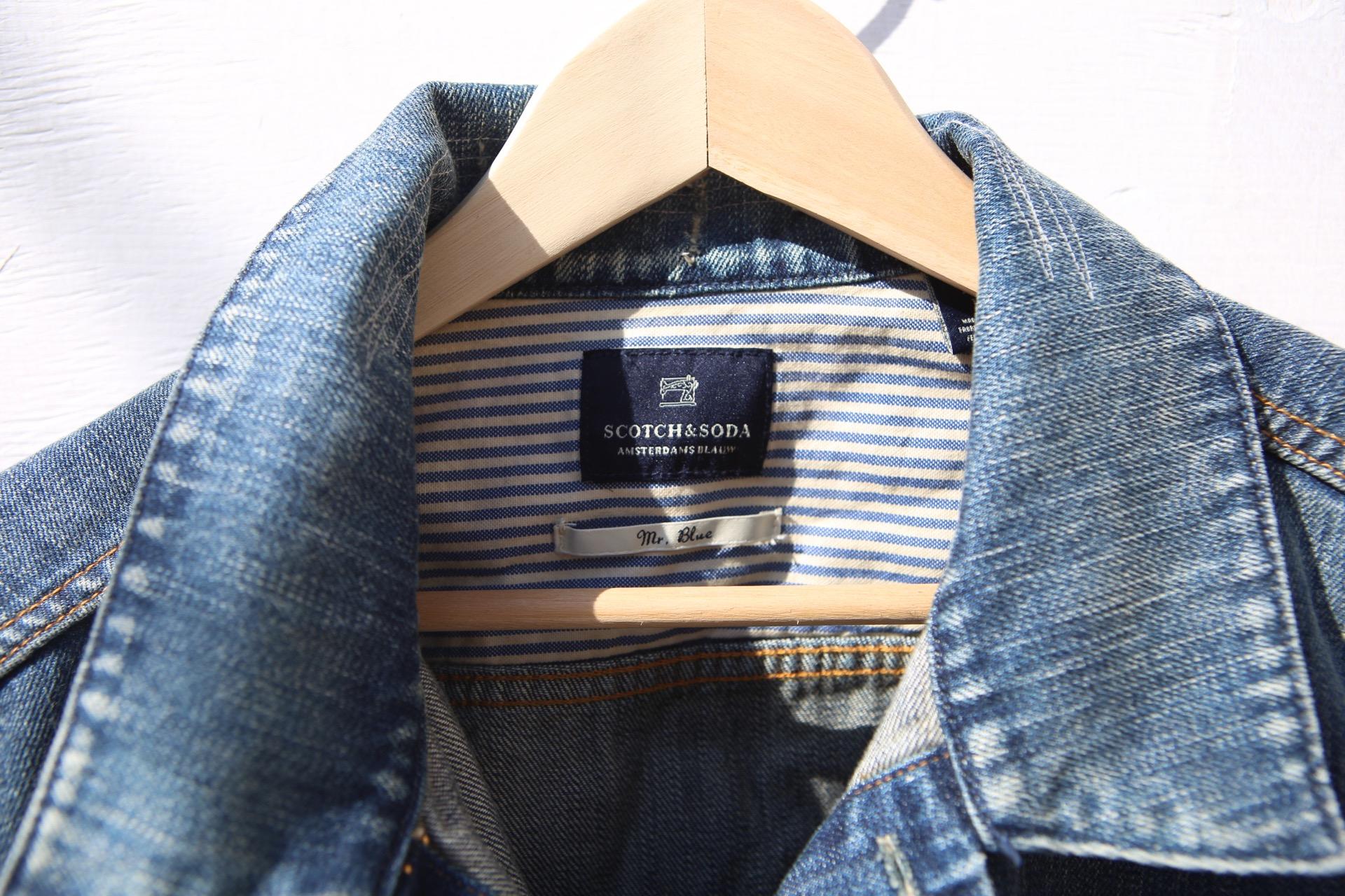 Scotch and Soda Leather + Denim Jacket