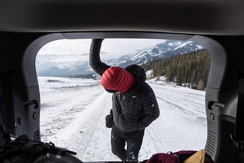 Tanner Stewart at Abraham Lake, Alberta.