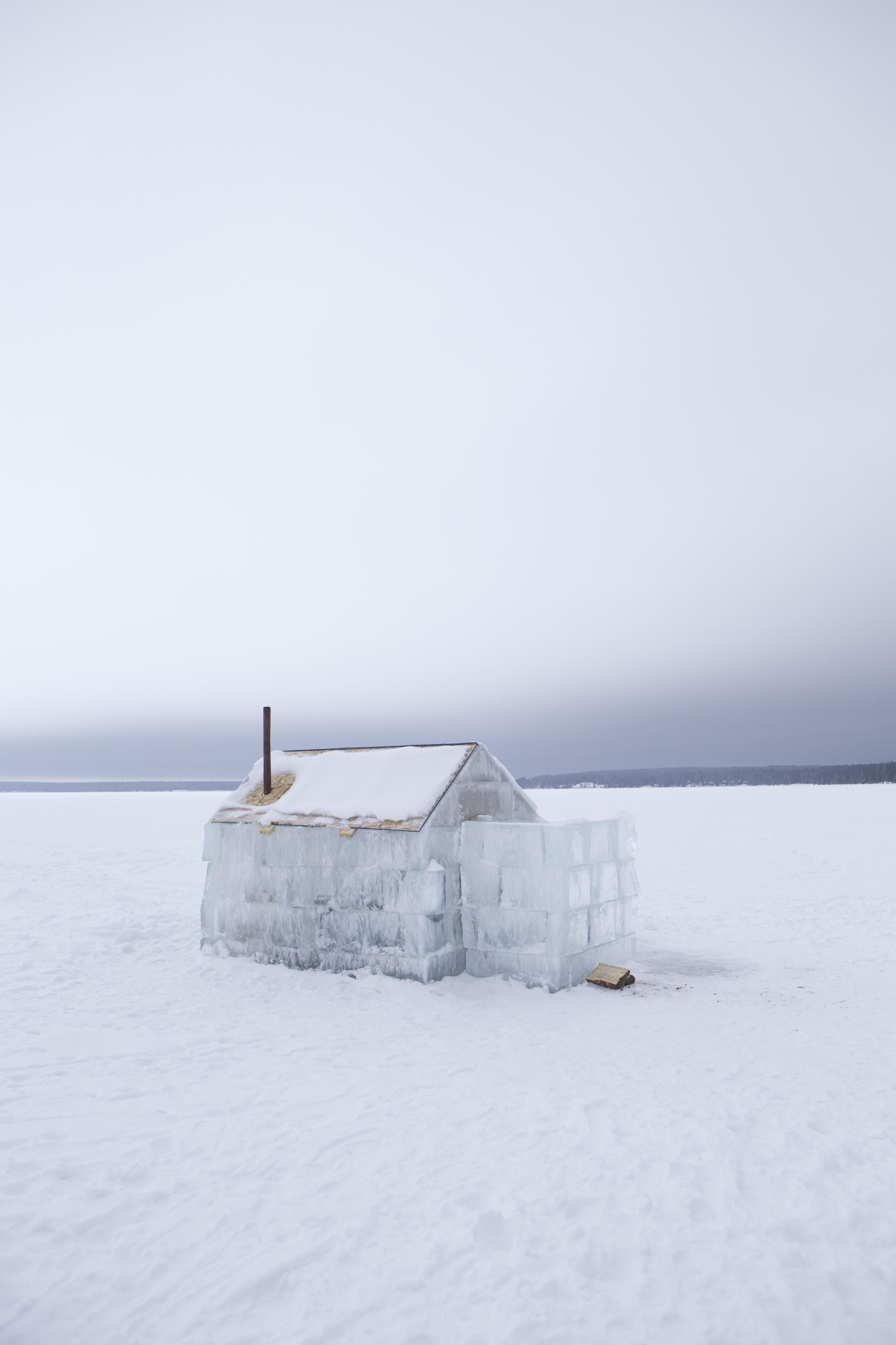 Ice Cabin in Waskesui, Saskatchewan.